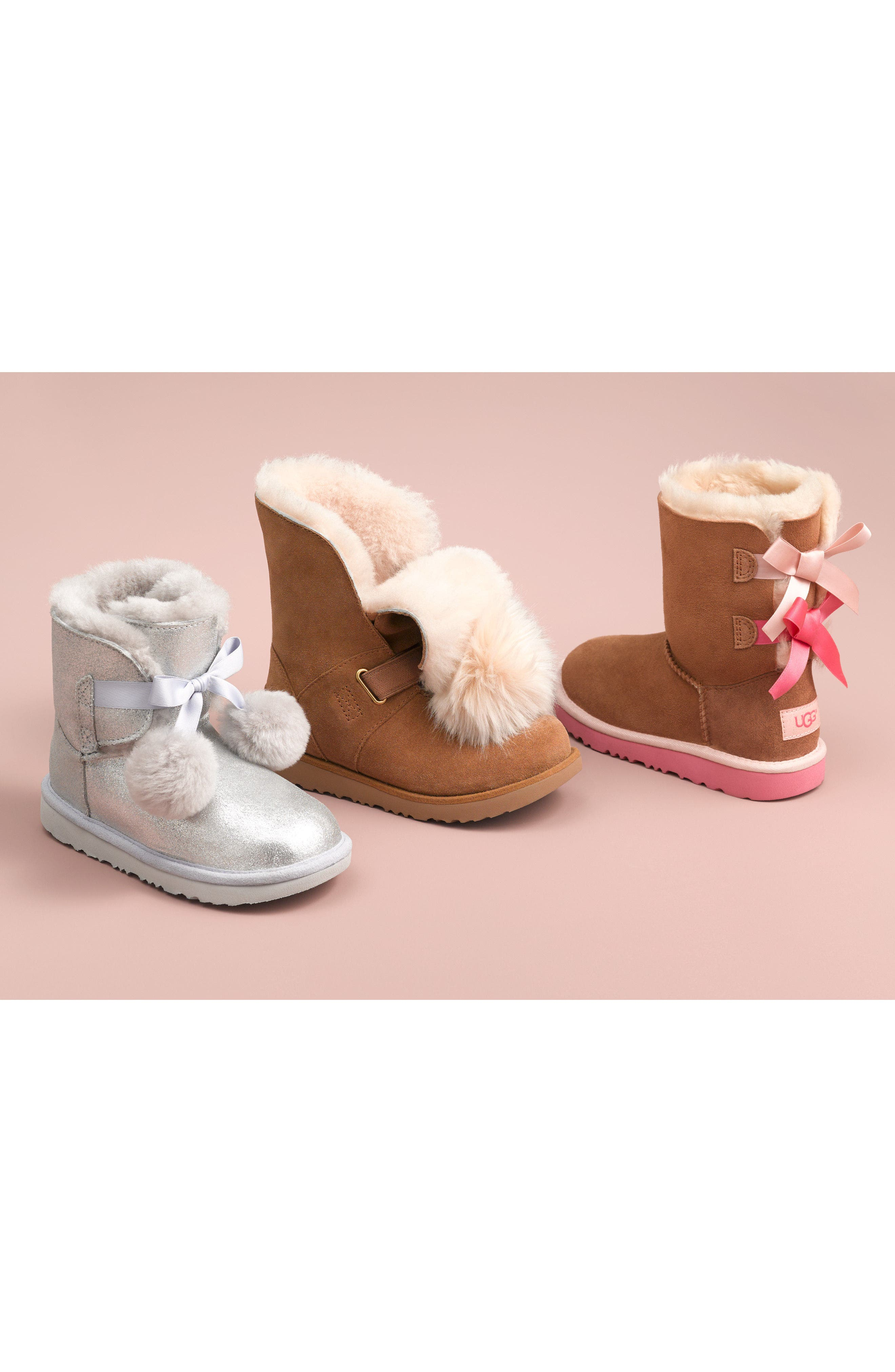 Bailey Bow II Water Resistant Genuine Shearling Boot,                             Alternate thumbnail 7, color,