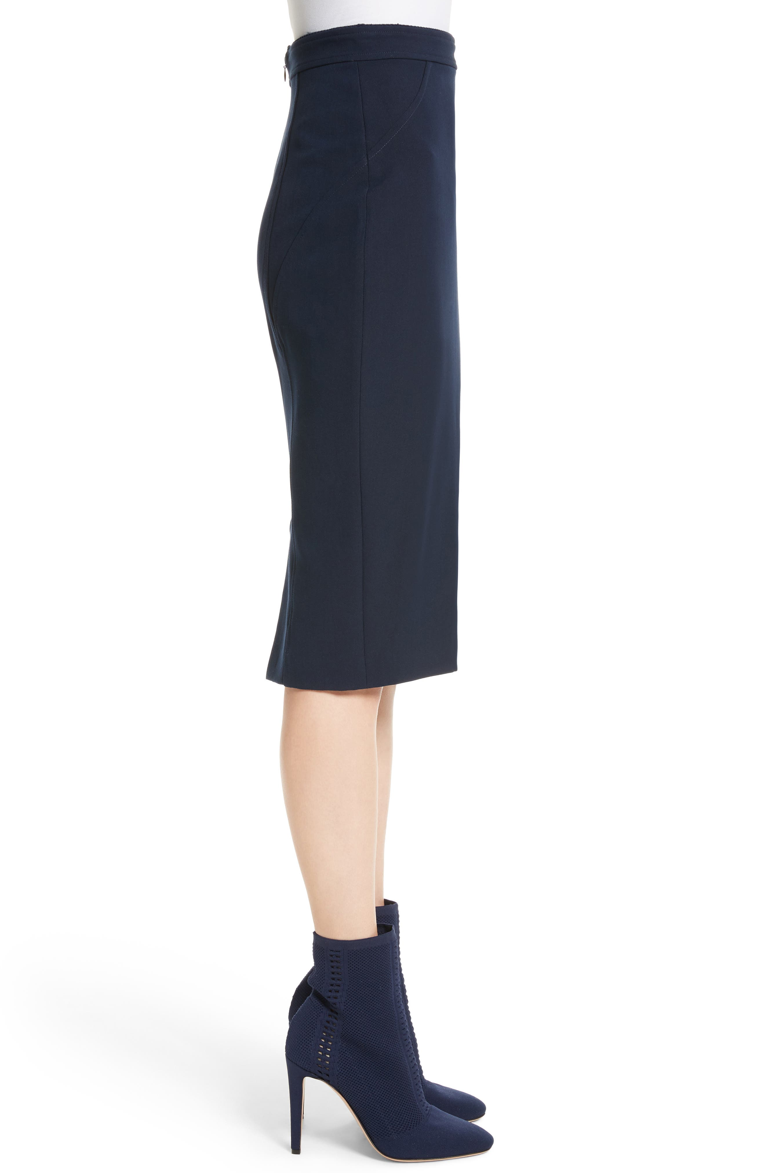 Alternate Image 3  - St. John Collection Bella Double Weave Pencil Skirt