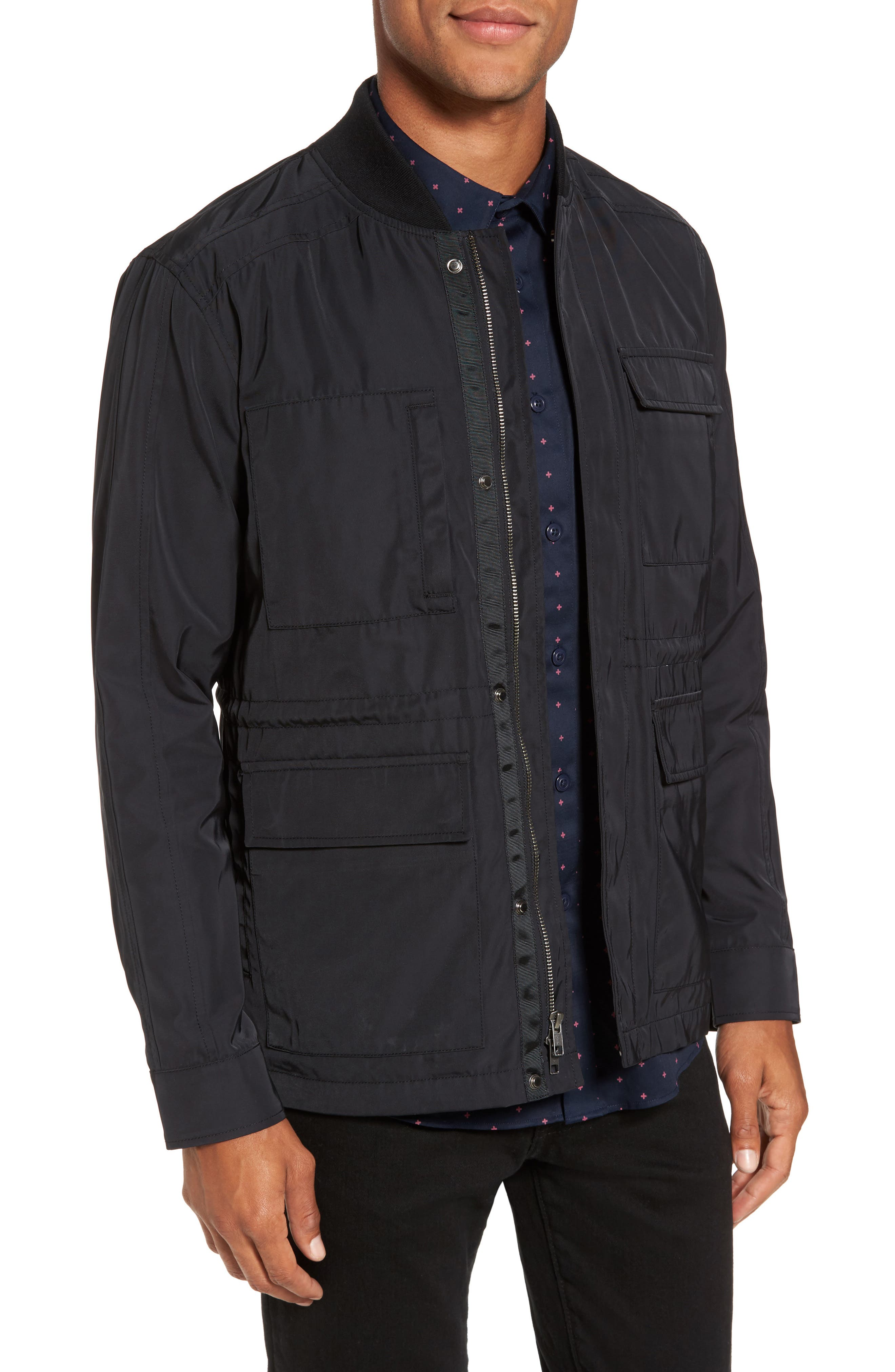 Utility Jacket,                             Main thumbnail 1, color,                             Black