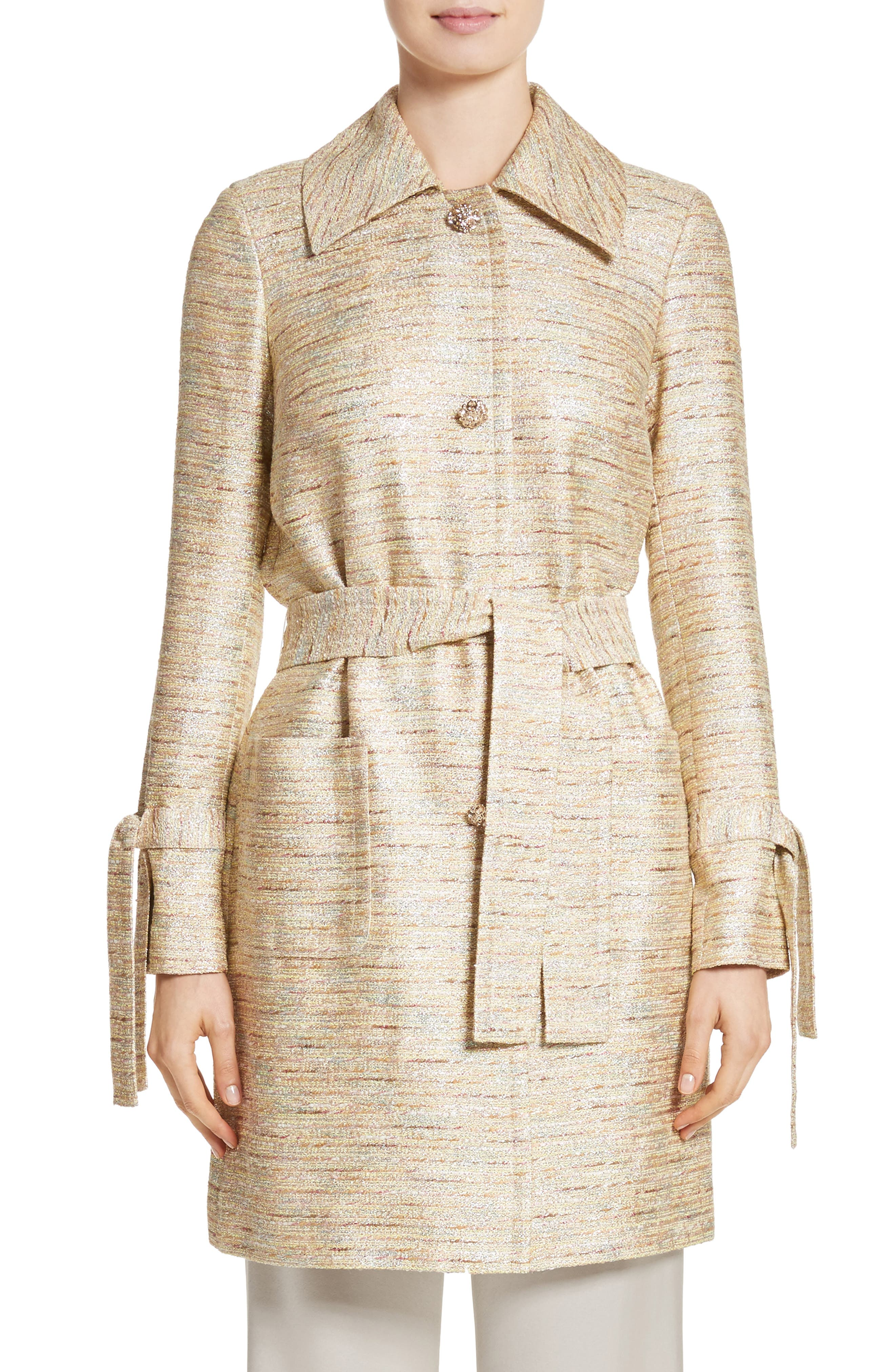 Alternate Image 1 Selected - St. John Collection Metallic Tweed Coat