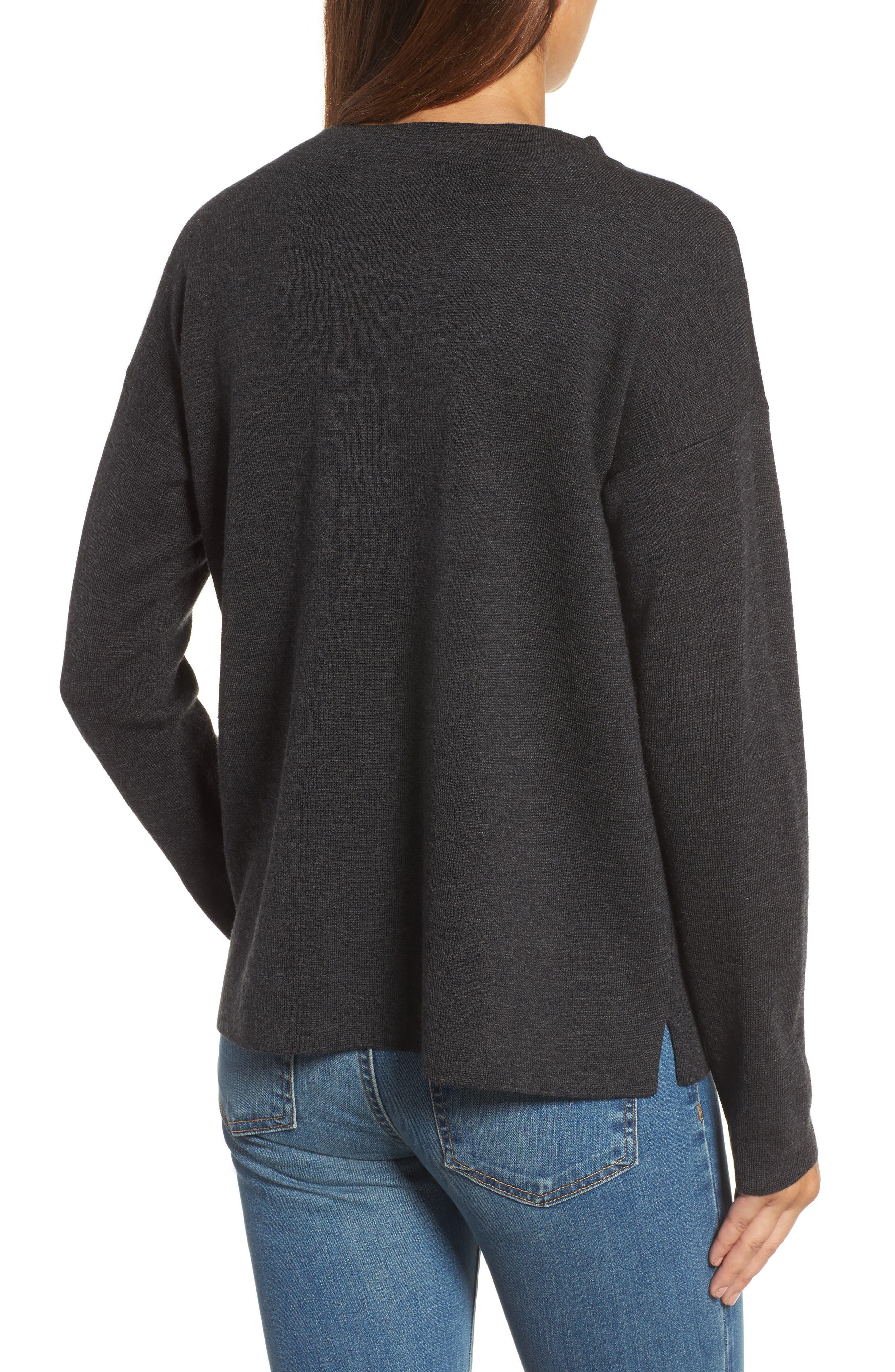 Alternate Image 2  - Eileen Fisher Mock Neck Box Wool Sweater
