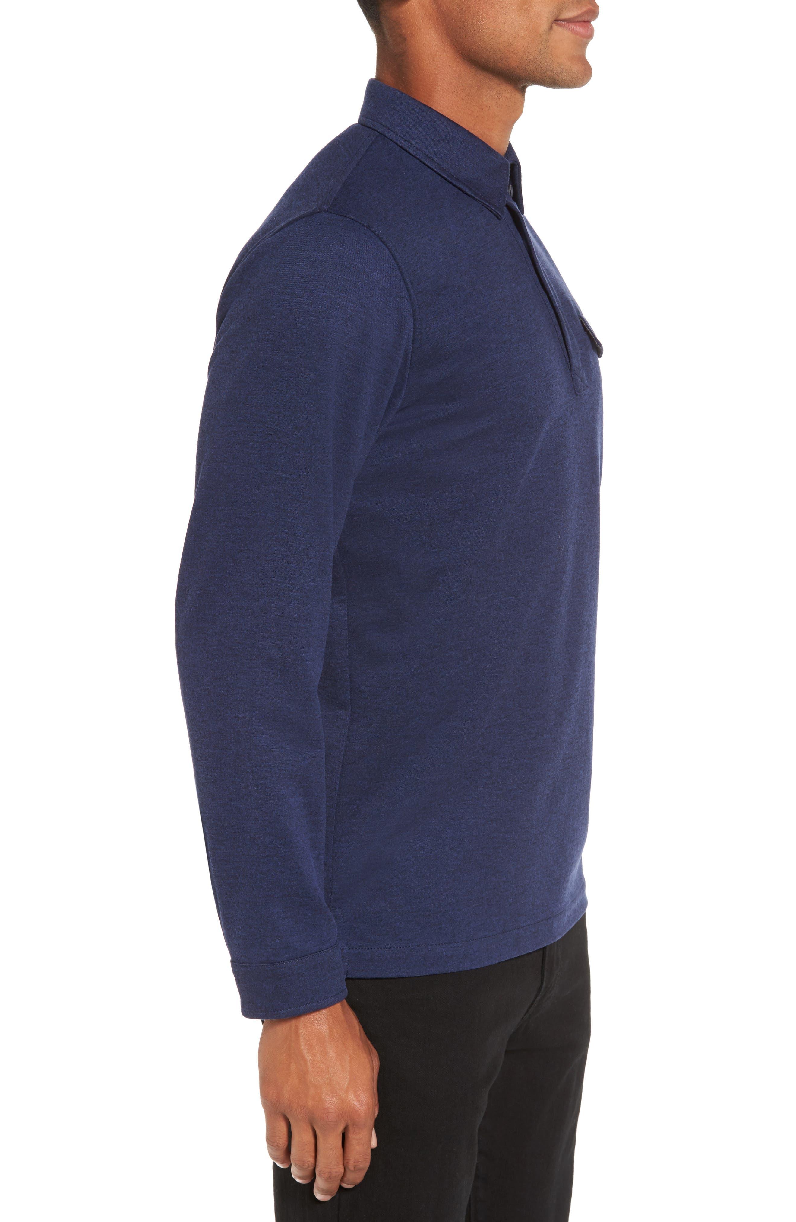 Long Sleeve Polo,                             Alternate thumbnail 3, color,                             Navy