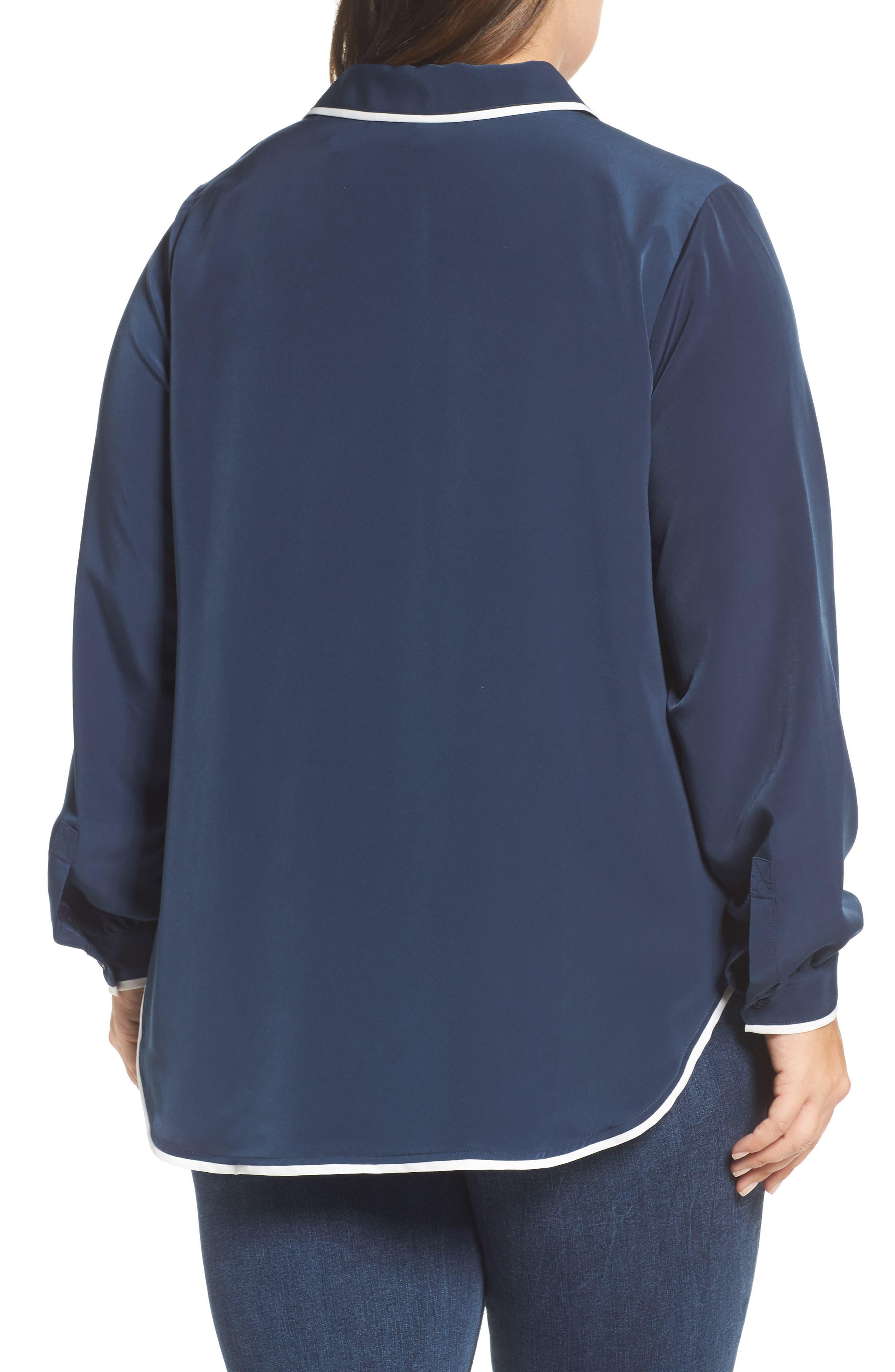 Alternate Image 2  - Melissa McCarthy Seven7 Pajama Blouse (Plus Size)