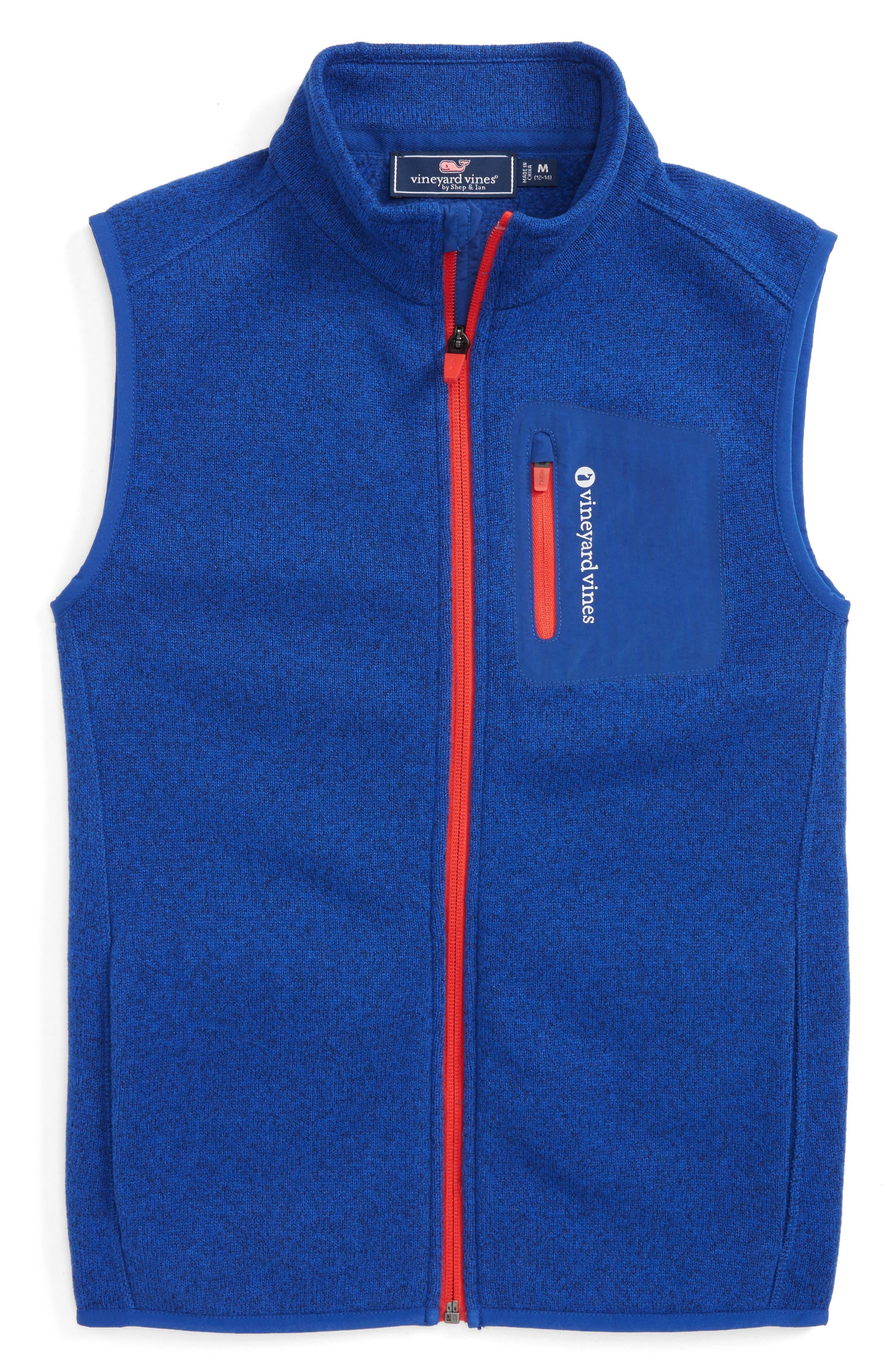 Sweater Vest,                         Main,                         color, Blue Bay