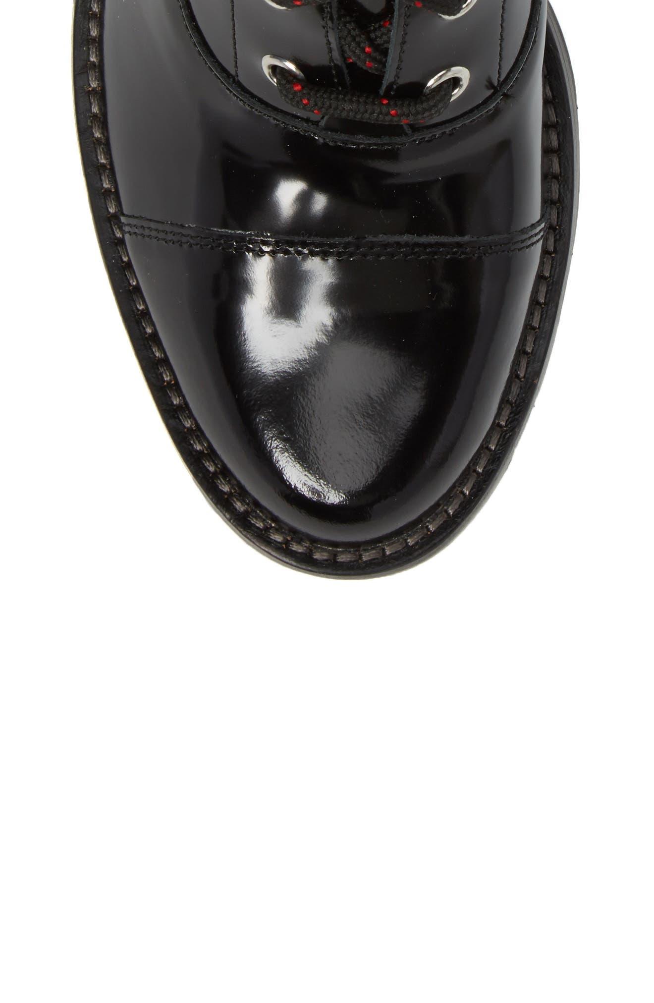 Wanya Boot,                             Alternate thumbnail 5, color,                             Black Leather