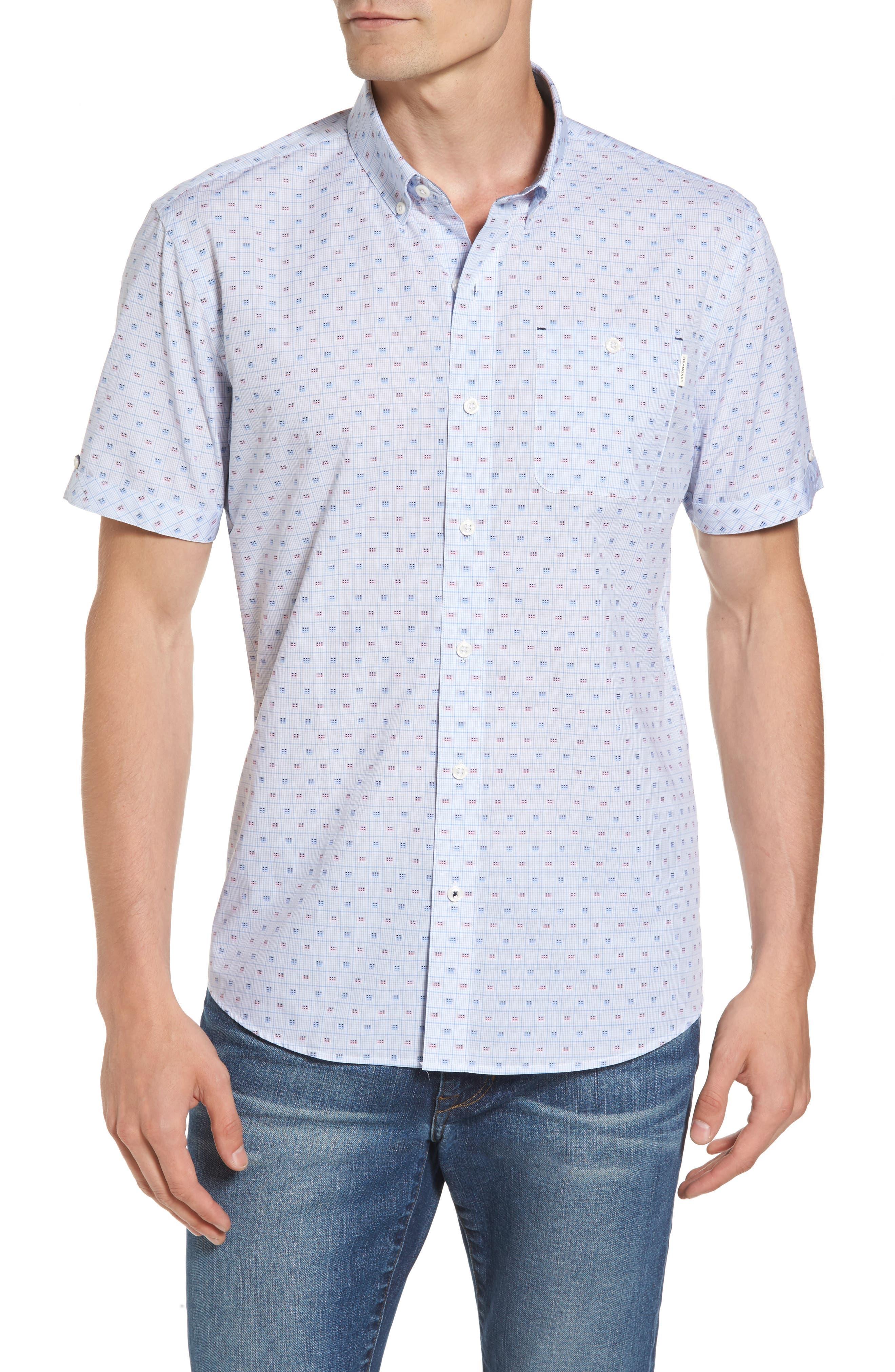 Atmosphere Woven Shirt,                         Main,                         color, Light Blue