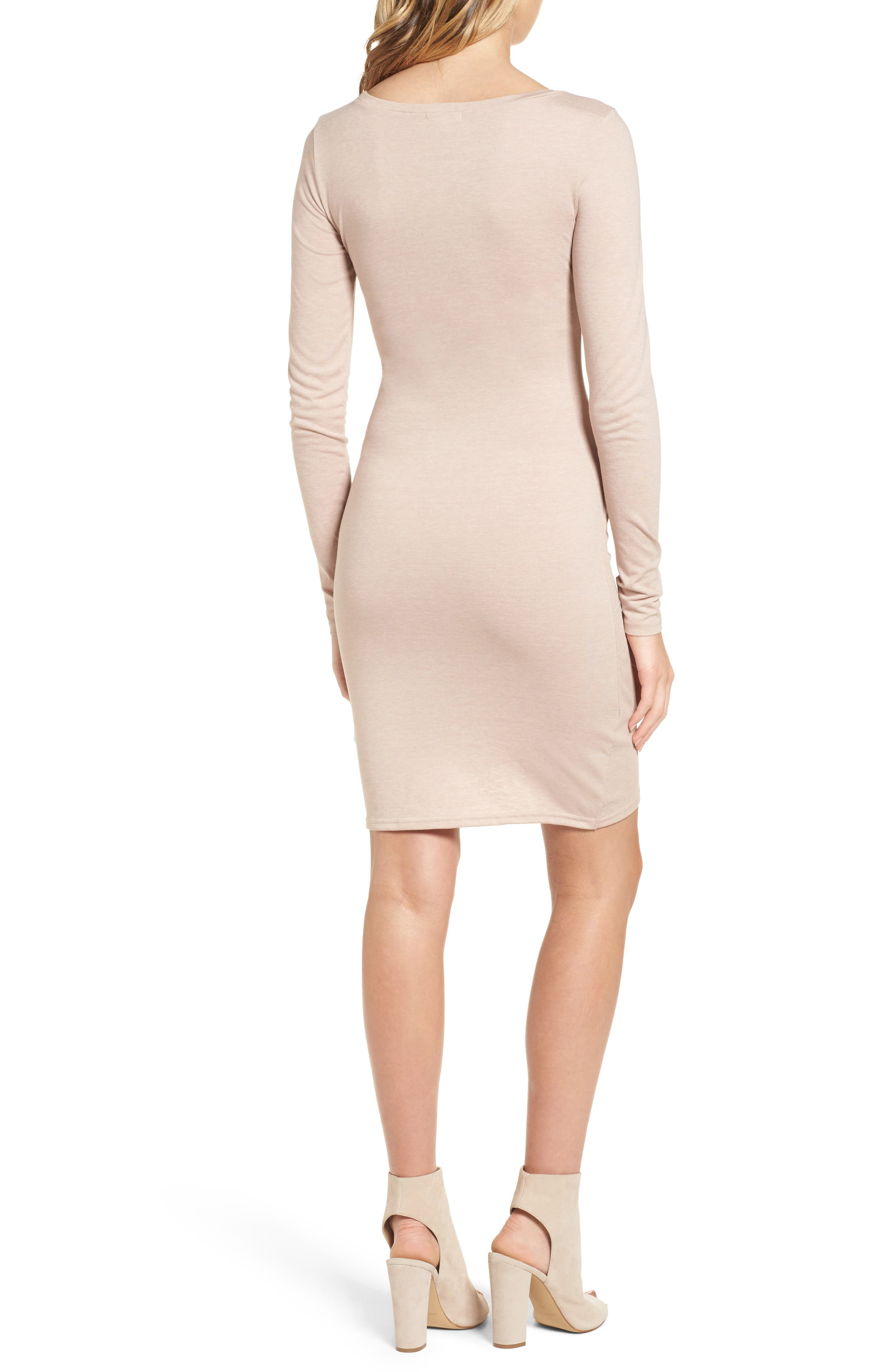 Alternate Image 2  - Leith Ruched Long Sleeve Dress (Nordstrom Online Exclusive)