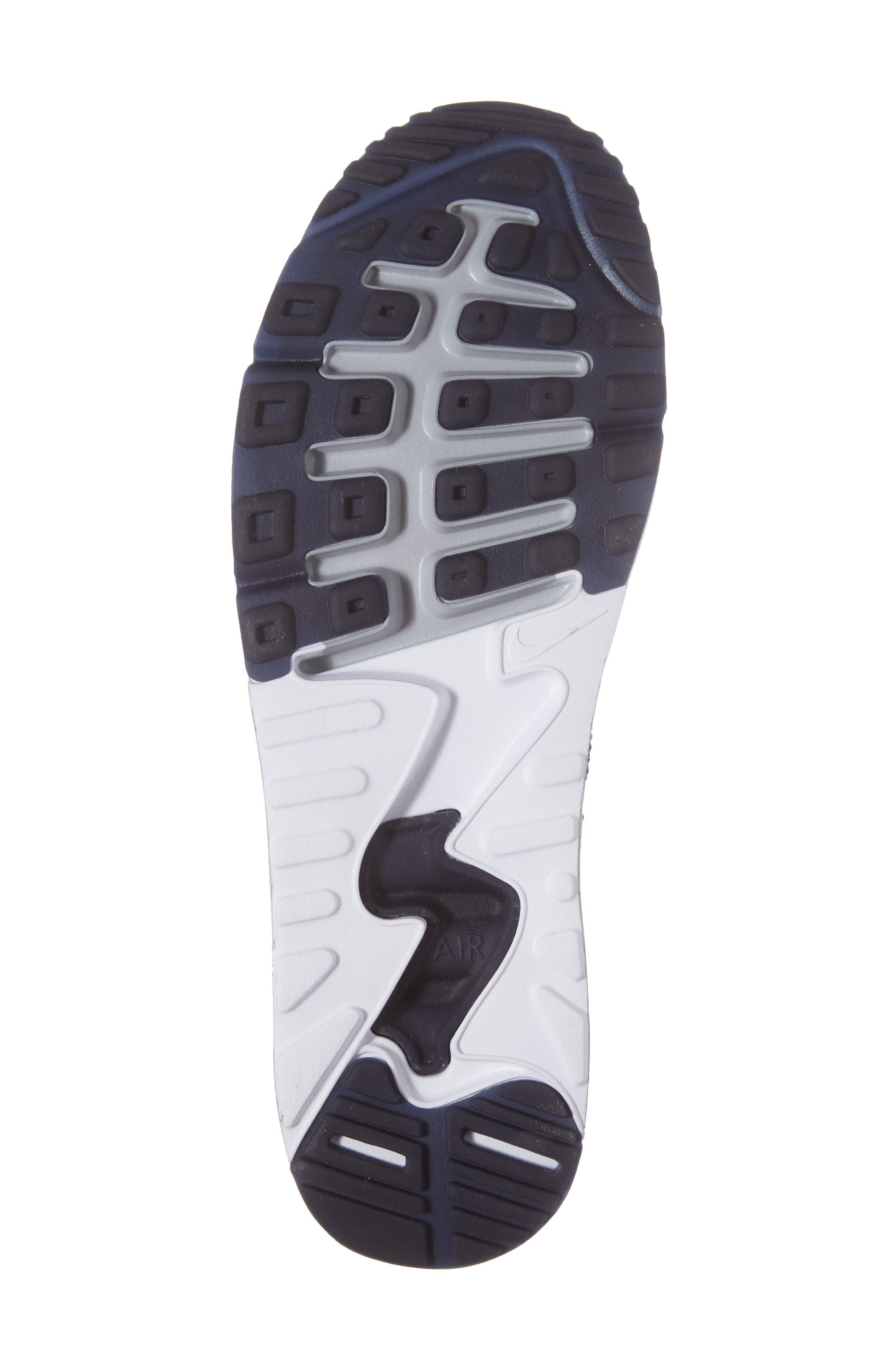 Air Max 90 Ultra 2.0 Flyknit Sneaker,                             Alternate thumbnail 6, color,                             Navy/ Navy/ Grey