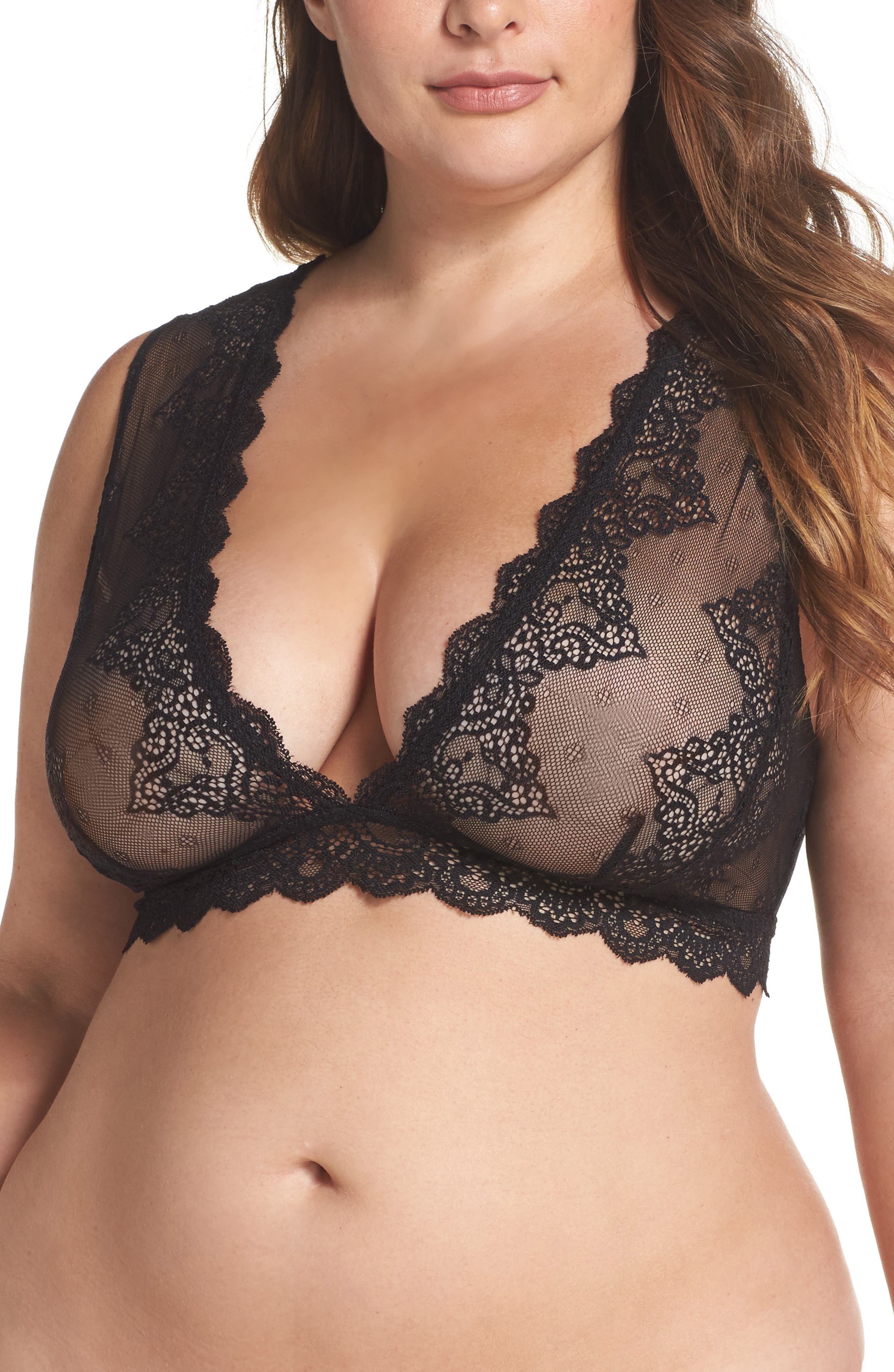 Alternate Image 1 Selected - Only Hearts So Fine Lace Bralette (Plus Size)