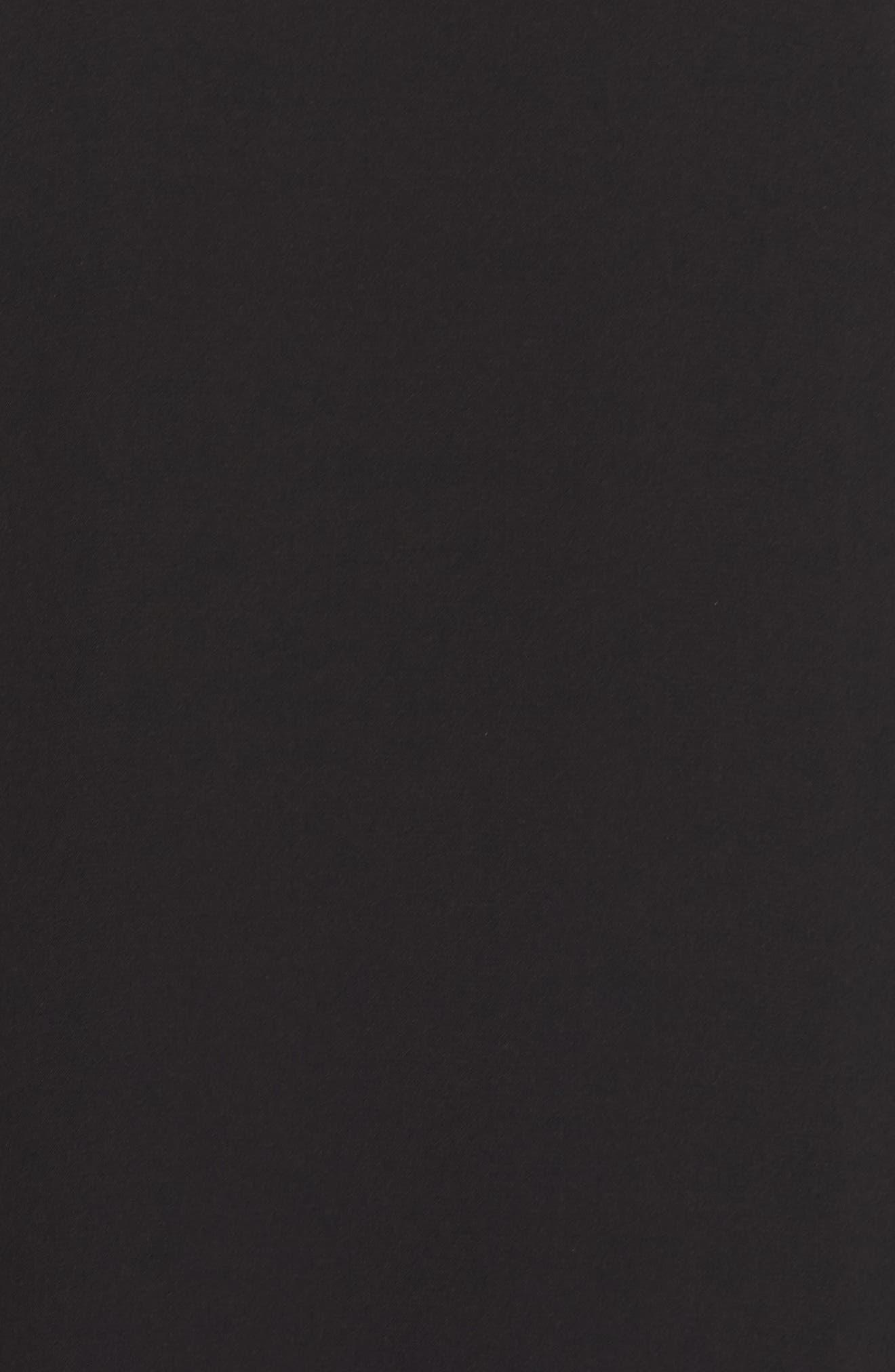 Suki Lace Sleeve Shift Dress,                             Alternate thumbnail 5, color,                             Black