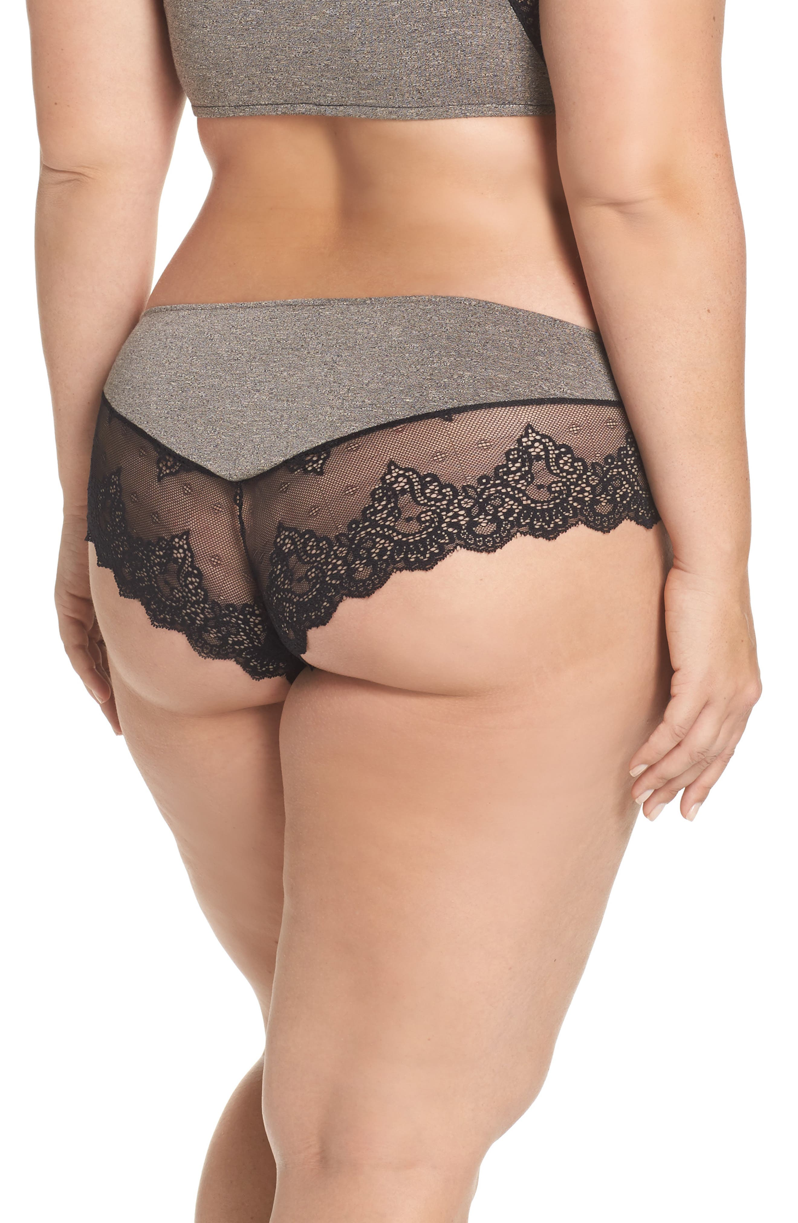 Alternate Image 2  - Only Hearts So Fine Hipster Panties (Plus Size)