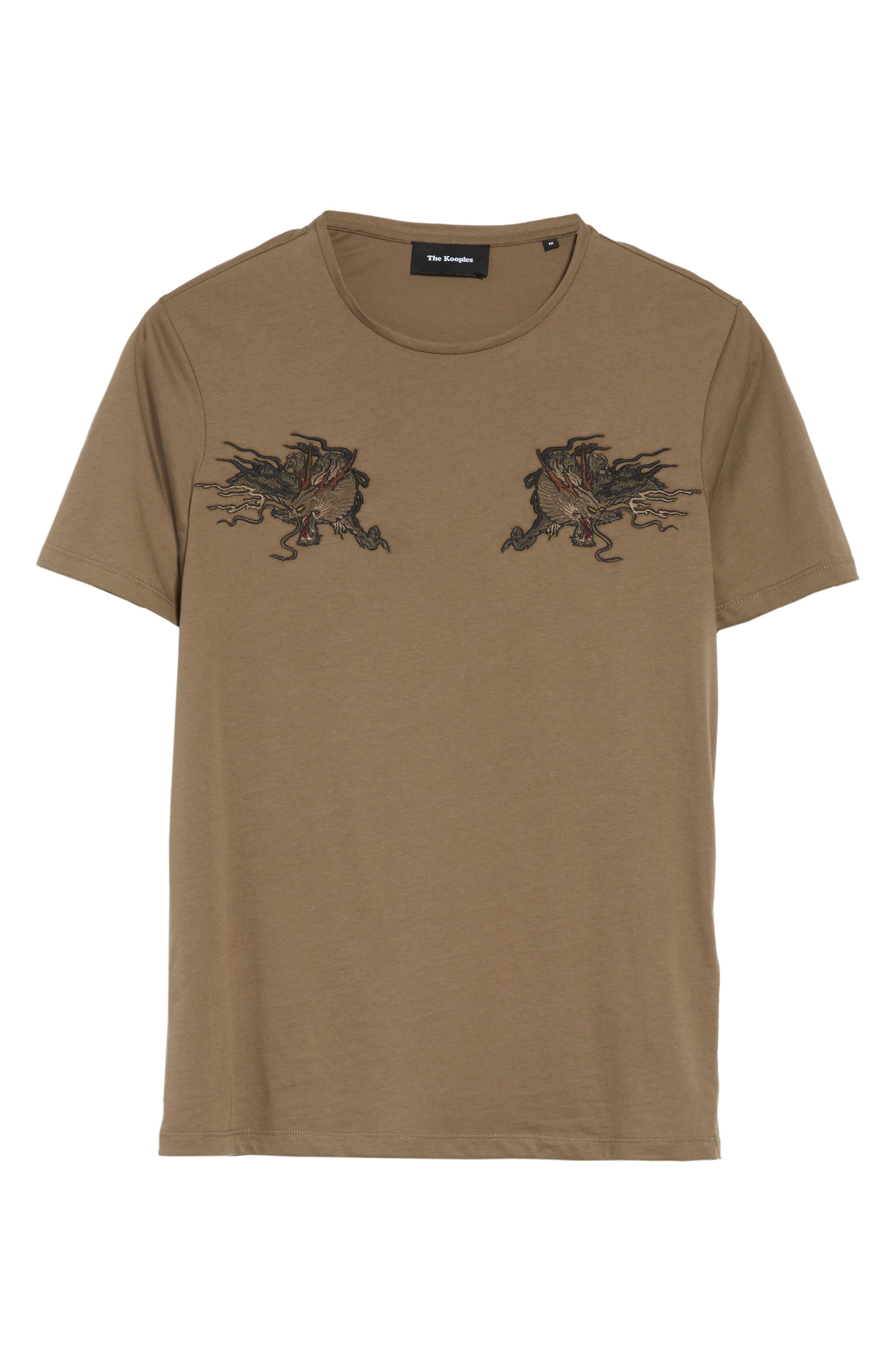 Embroidered Dragon T-Shirt,                             Alternate thumbnail 6, color,                             Light Brown