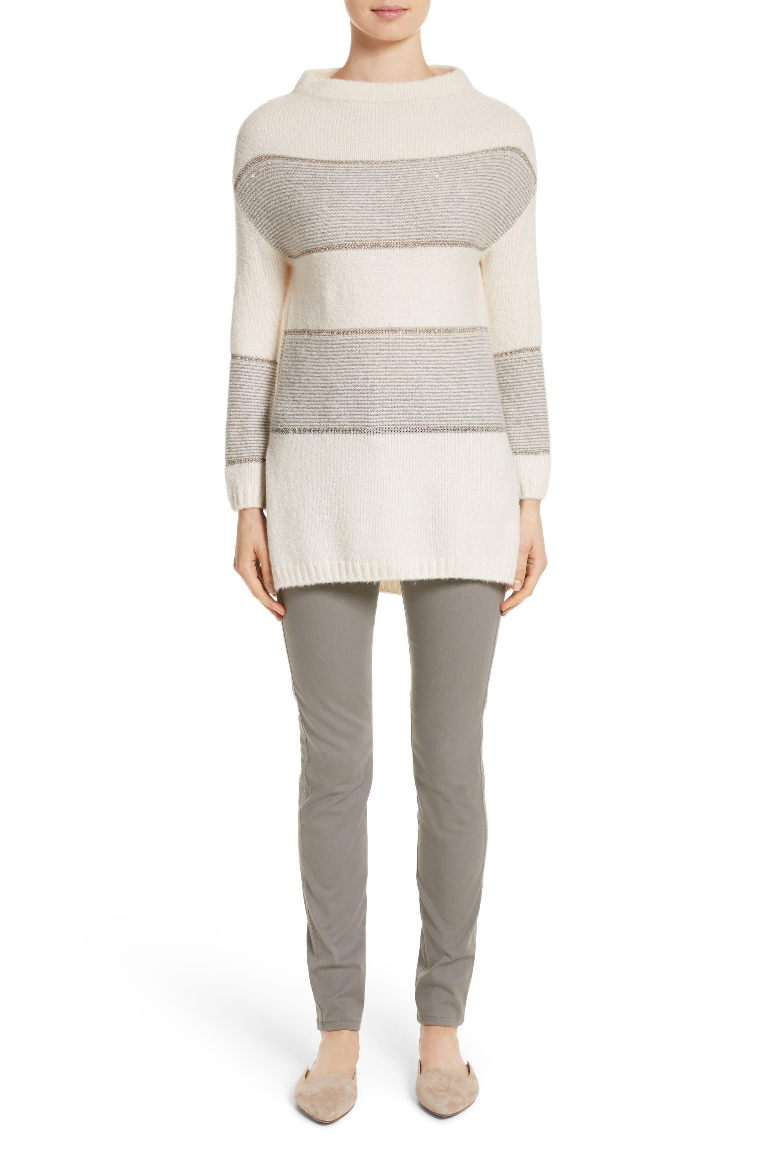 Alternate Image 5  - St. John Collection Links Knit Funnel Neck Sweater
