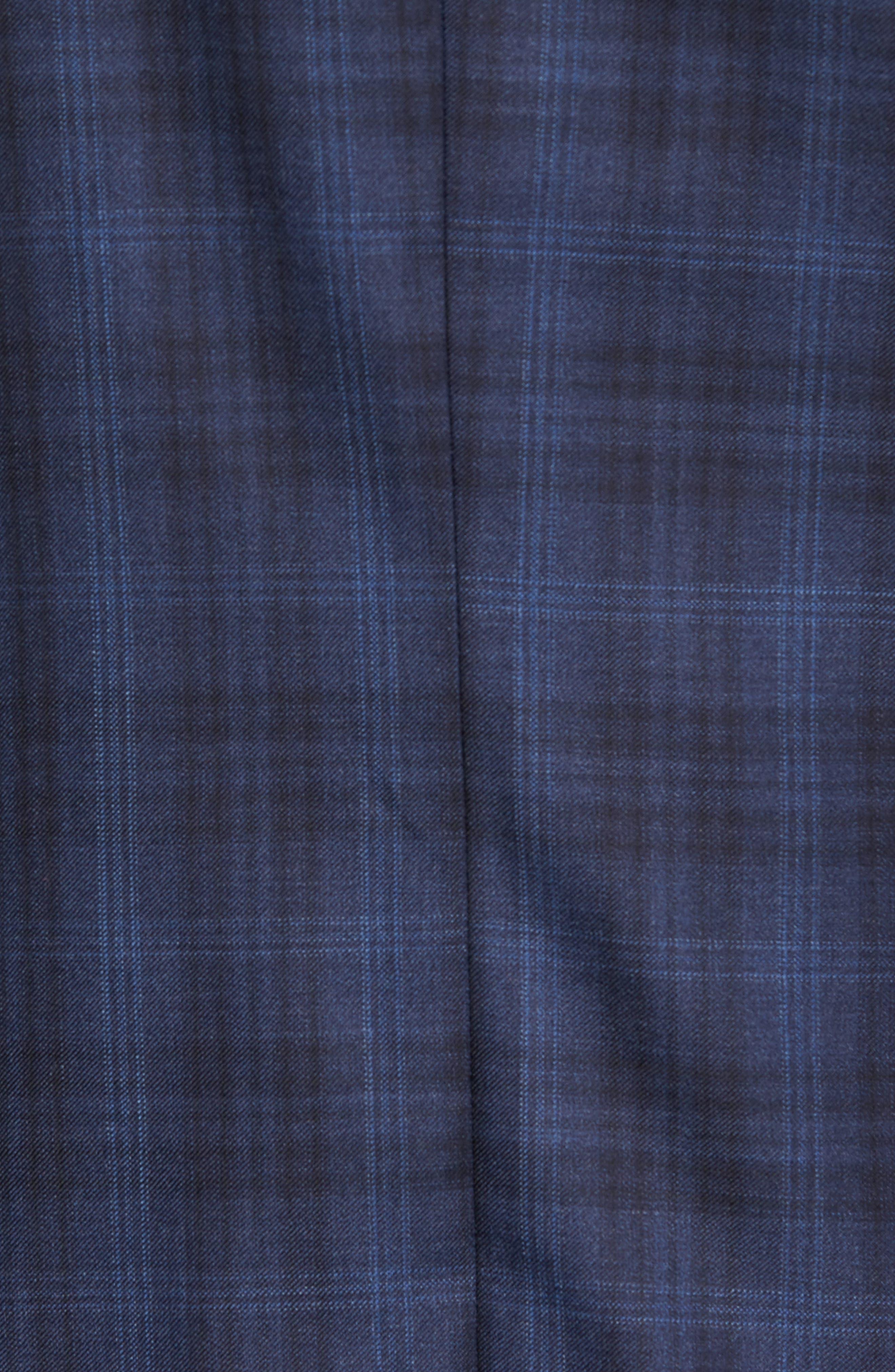 Midnatt Trim Fit Plaid Wool Sport Coat,                             Alternate thumbnail 5, color,                             Black Iris