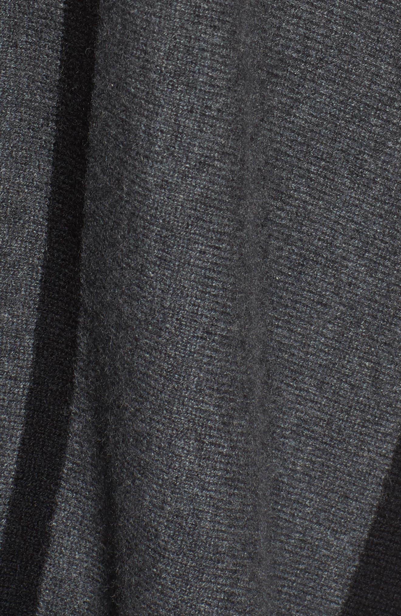 Island Stripe Cashmere Poncho,                             Alternate thumbnail 5, color,                             Vapor Heather