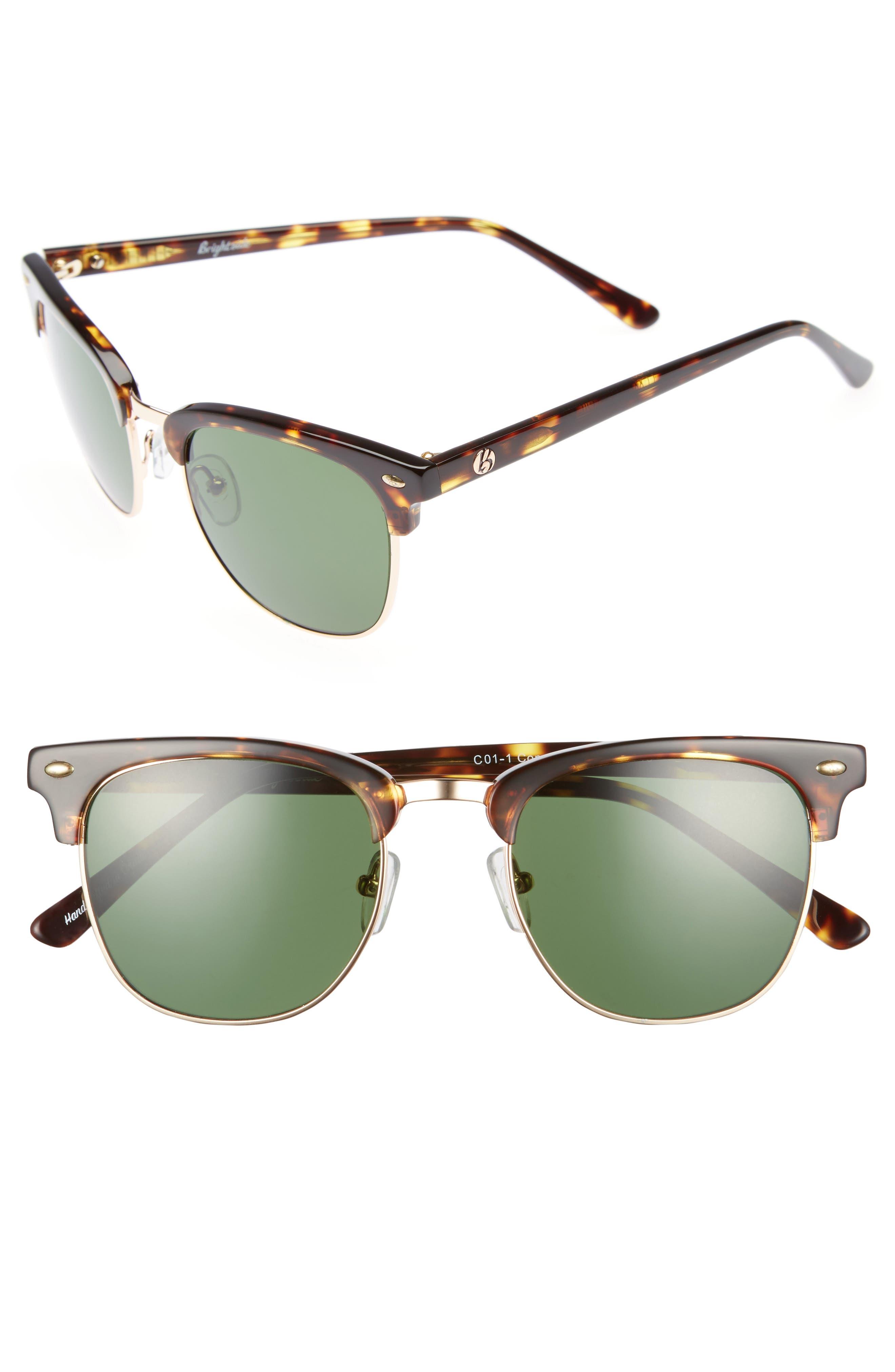 Copeland 51mm Sunglasses,                         Main,                         color, Golden Tortoise/ Green