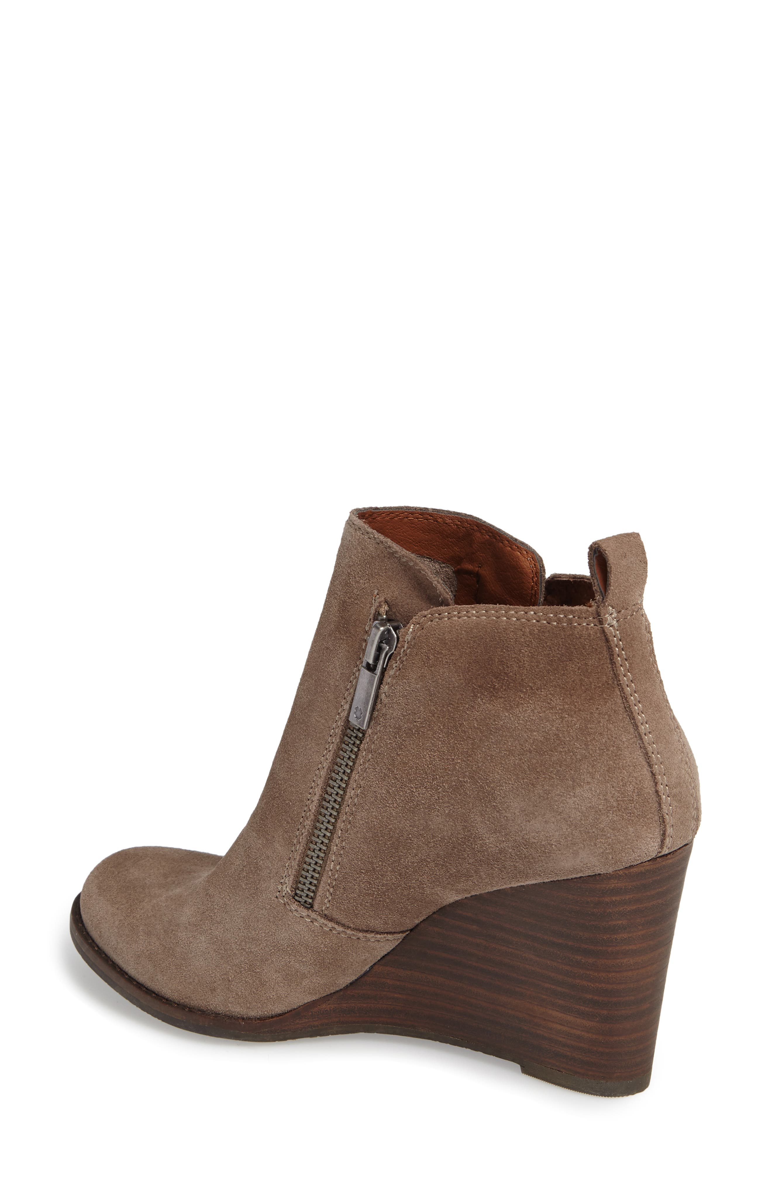 Yesterr Wedge Bootie,                             Alternate thumbnail 2, color,                             Brindle Suede