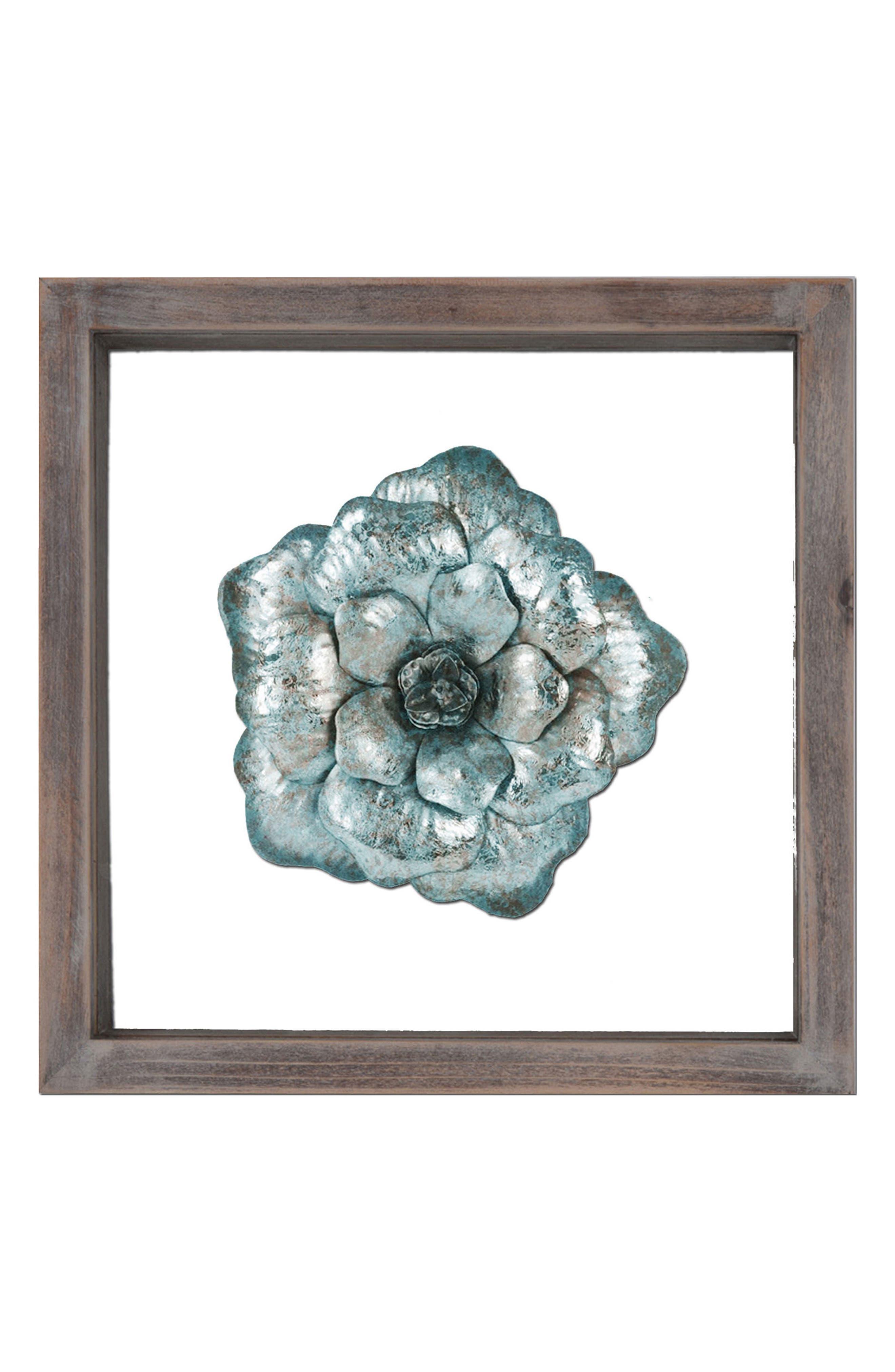 Metal Flower Wall Art,                         Main,                         color, Multi
