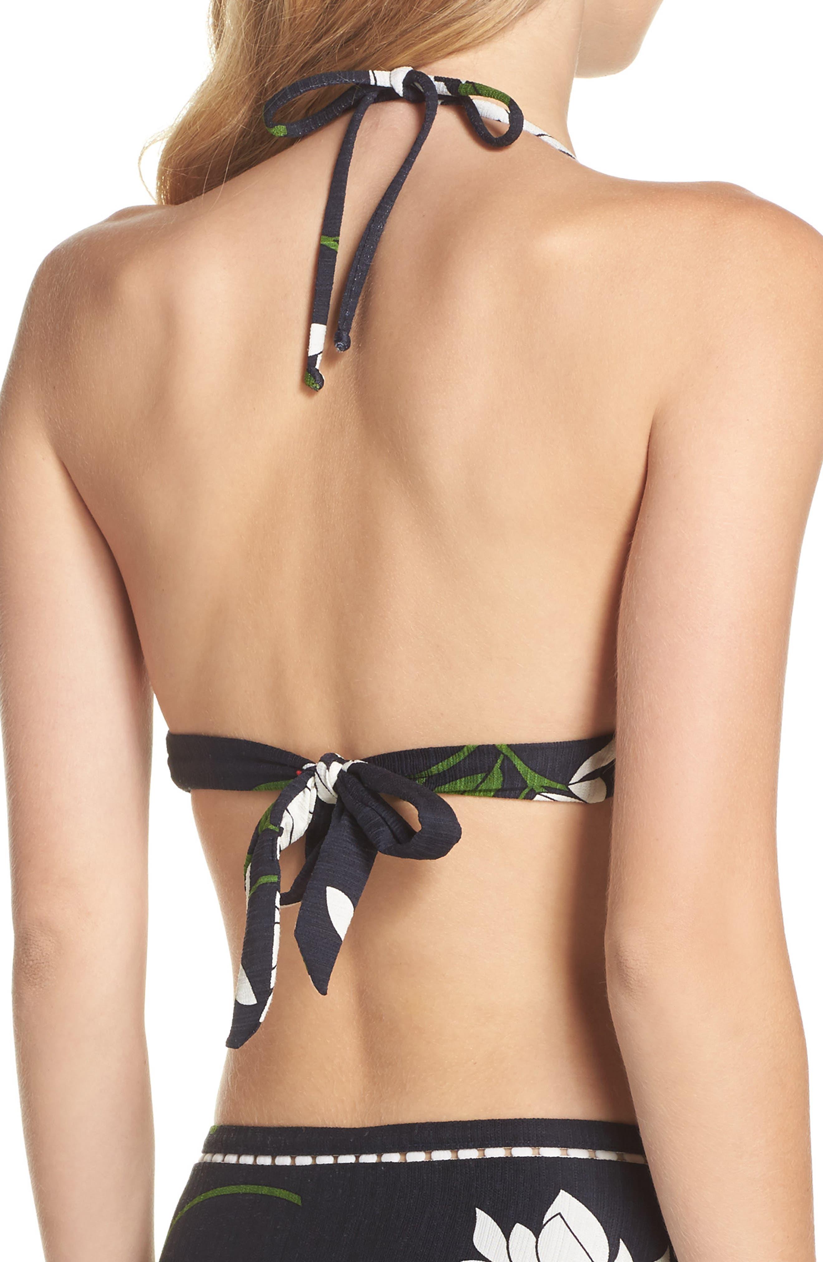 Elisa Halter Bikini Top,                             Alternate thumbnail 2, color,                             Midnight/ Multi