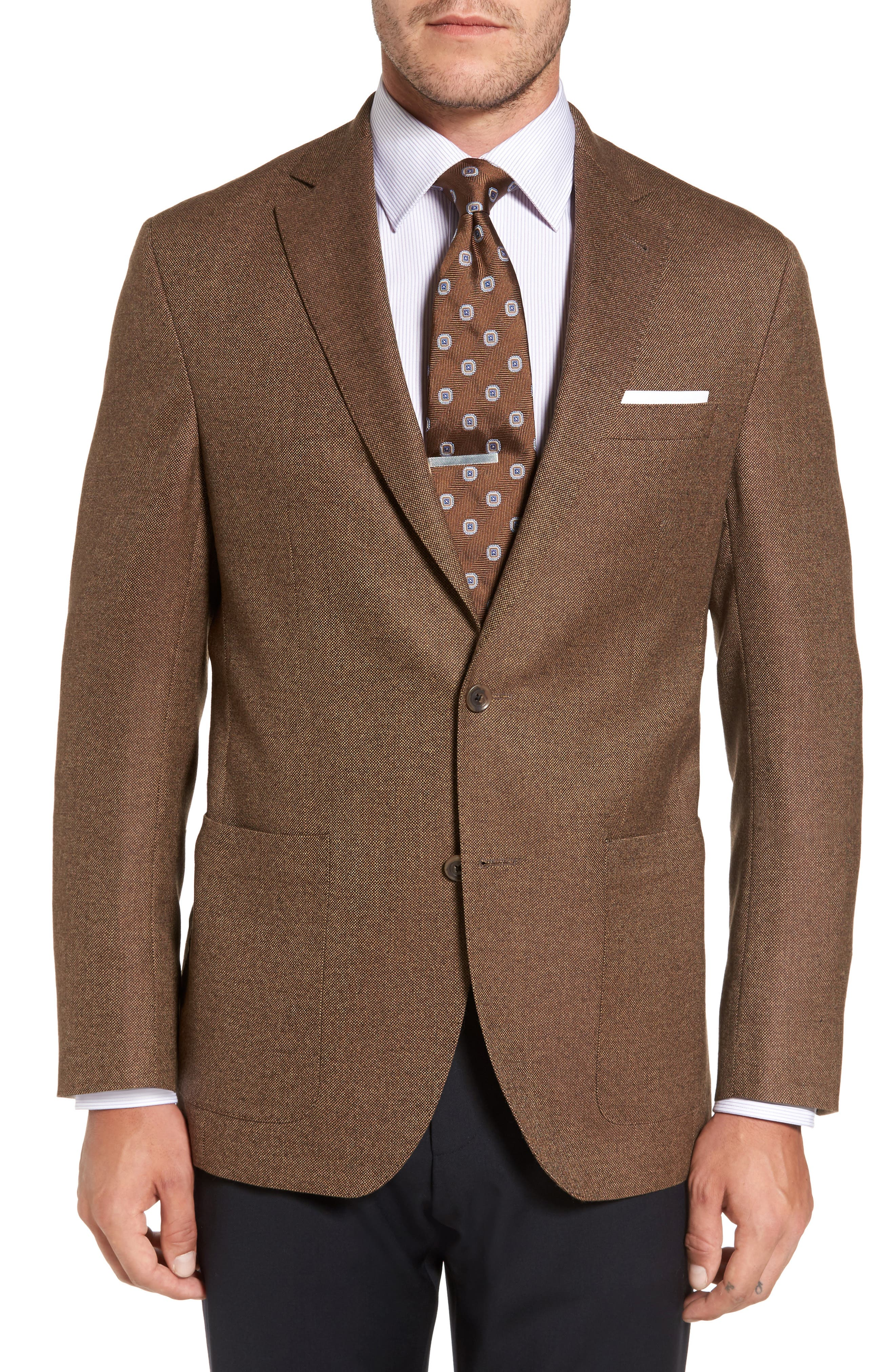 Aiden Classic Fit Wool Blazer,                             Main thumbnail 1, color,                             Light Brown