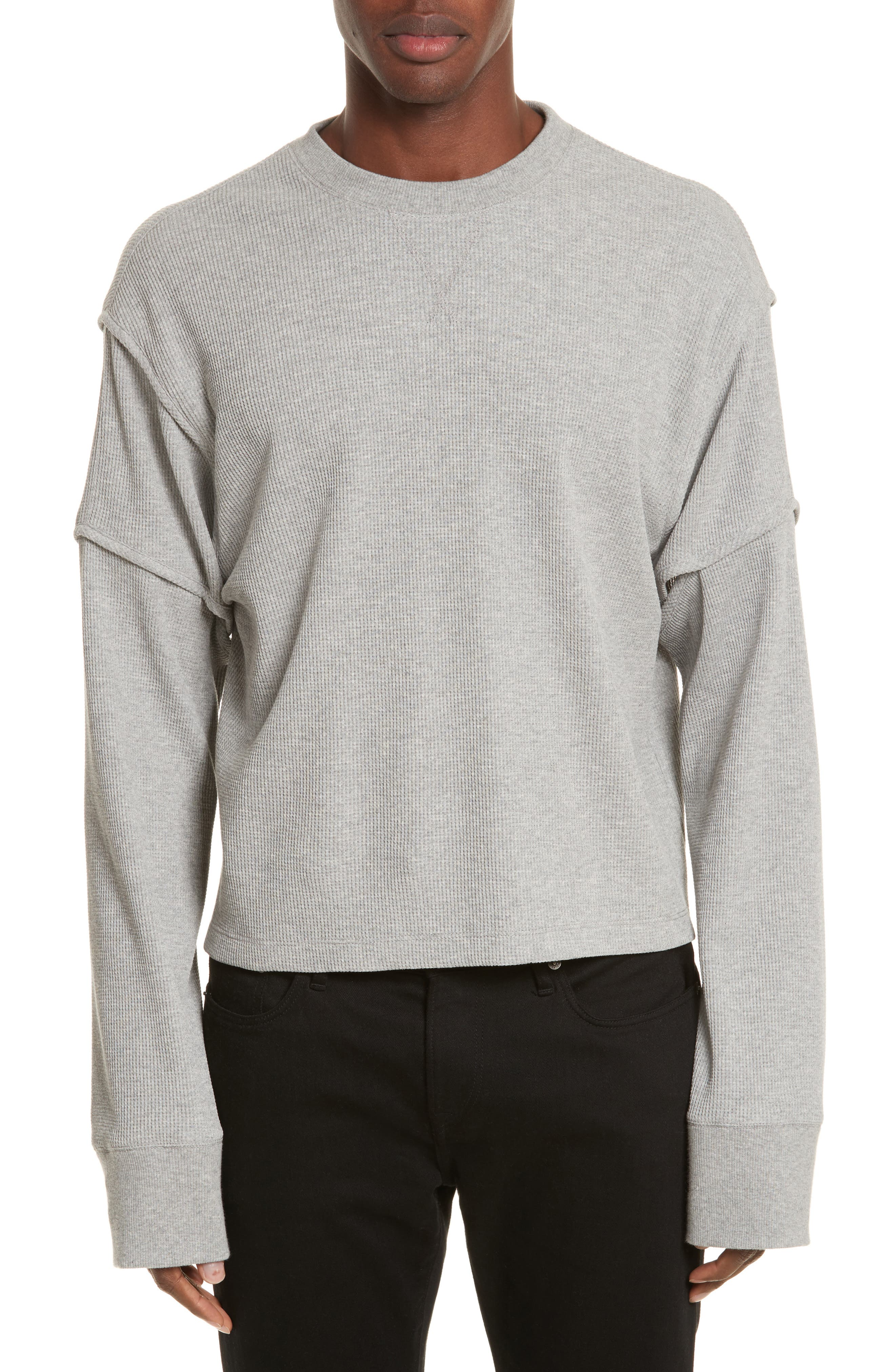 Main Image - Helmut Lang Military Panel Sleeve Thermal Shirt