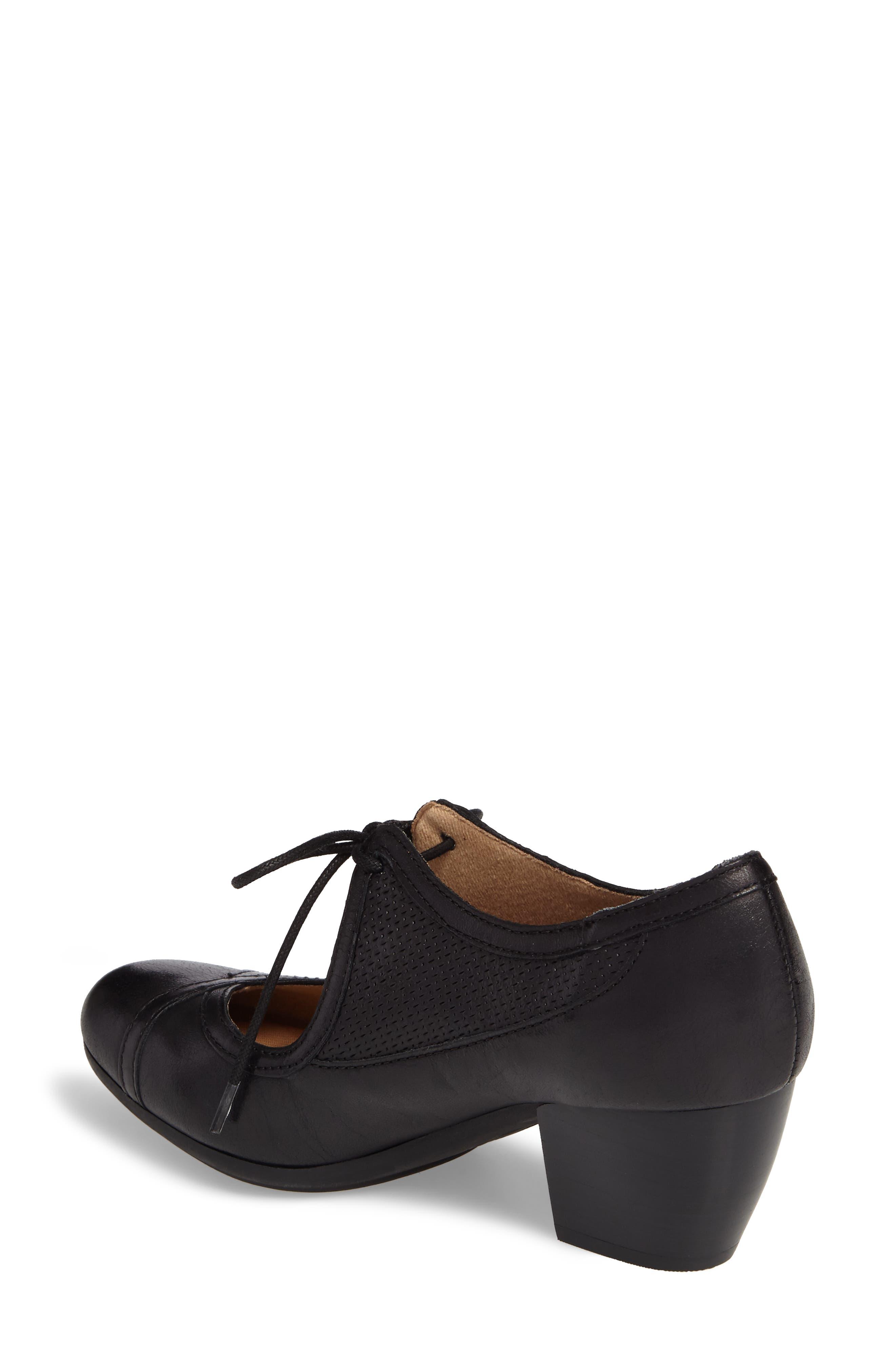 Almyra Pump,                             Alternate thumbnail 2, color,                             Black Leather
