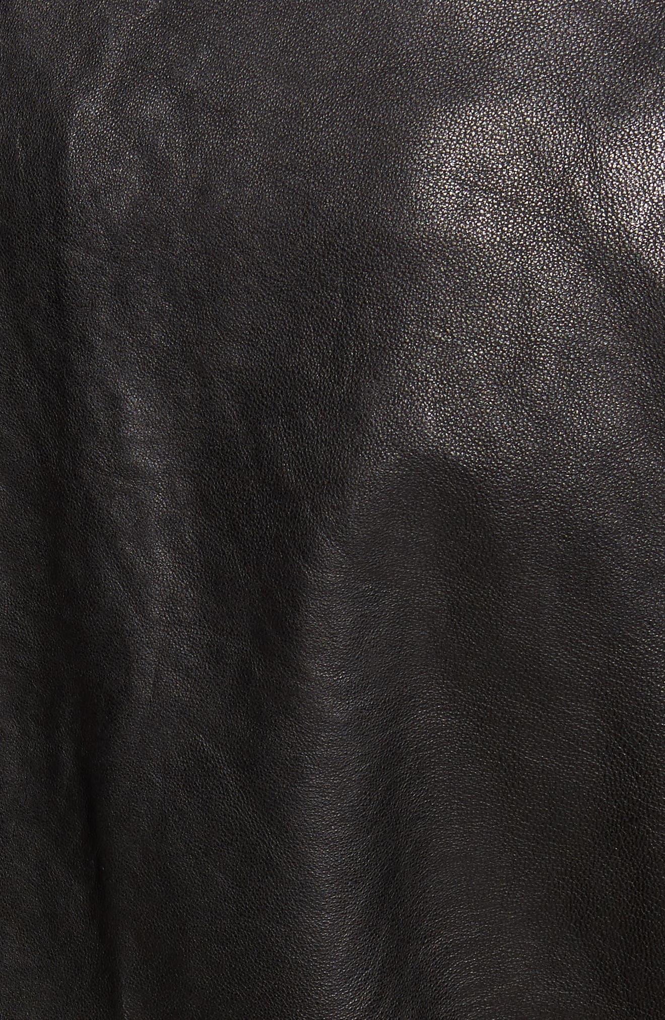 Alternate Image 5  - John Varvatos Star USA Studded Collar Leather Jacket