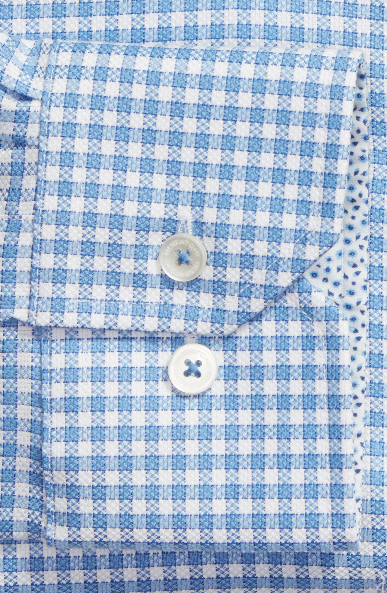 Trim Fit Check Dress Shirt,                             Alternate thumbnail 2, color,                             Sky