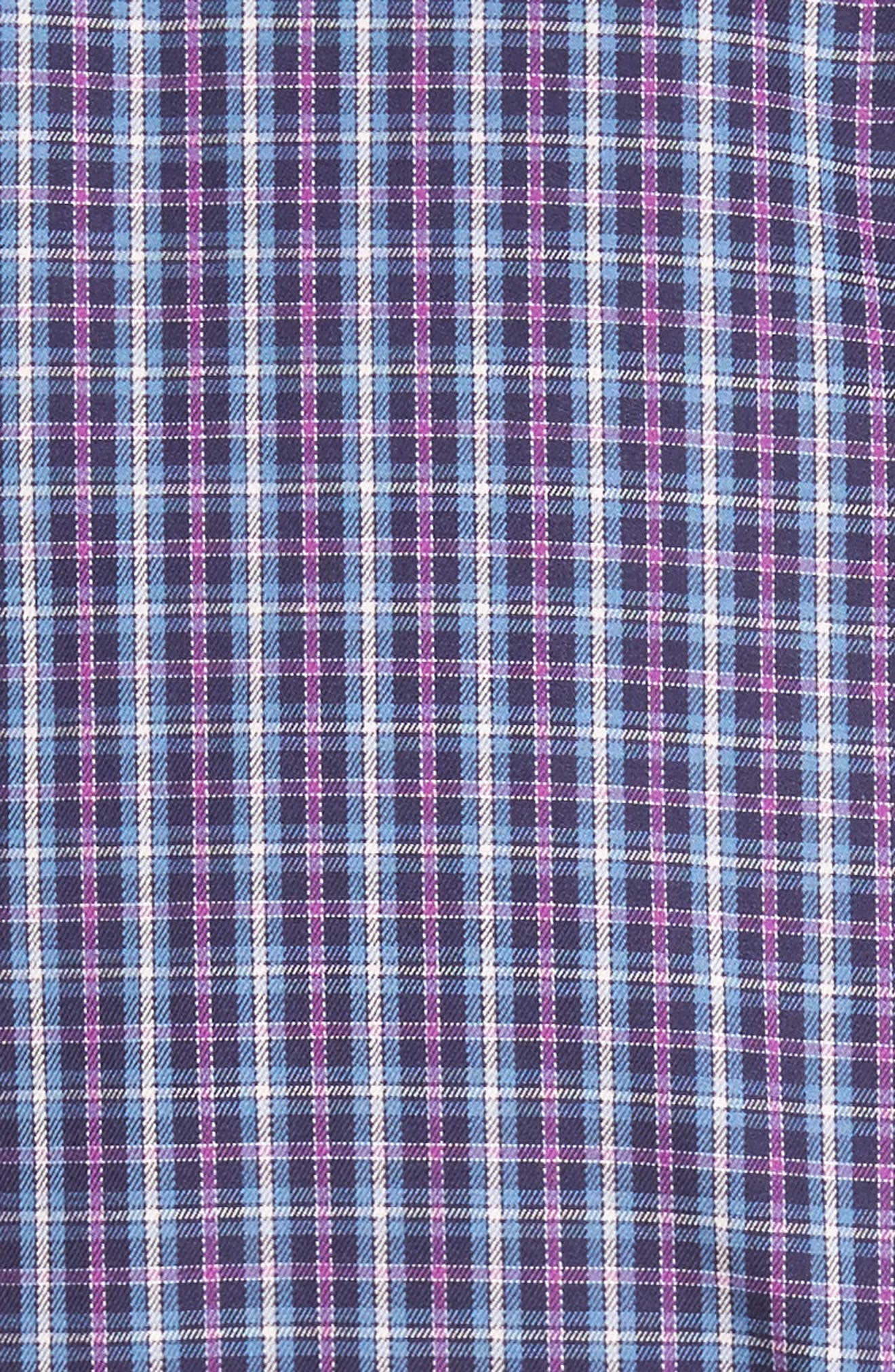 Hillock Regular Fit Plaid Sport Shirt,                             Alternate thumbnail 6, color,                             Moon Blue