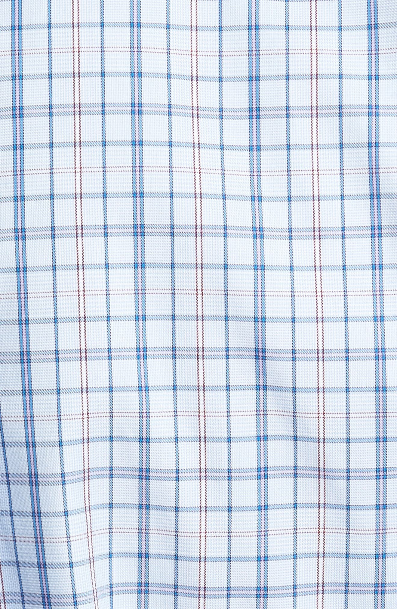 Coastland Regular Fit Plaid Sport Shirt,                             Alternate thumbnail 5, color,                             Waters Edge