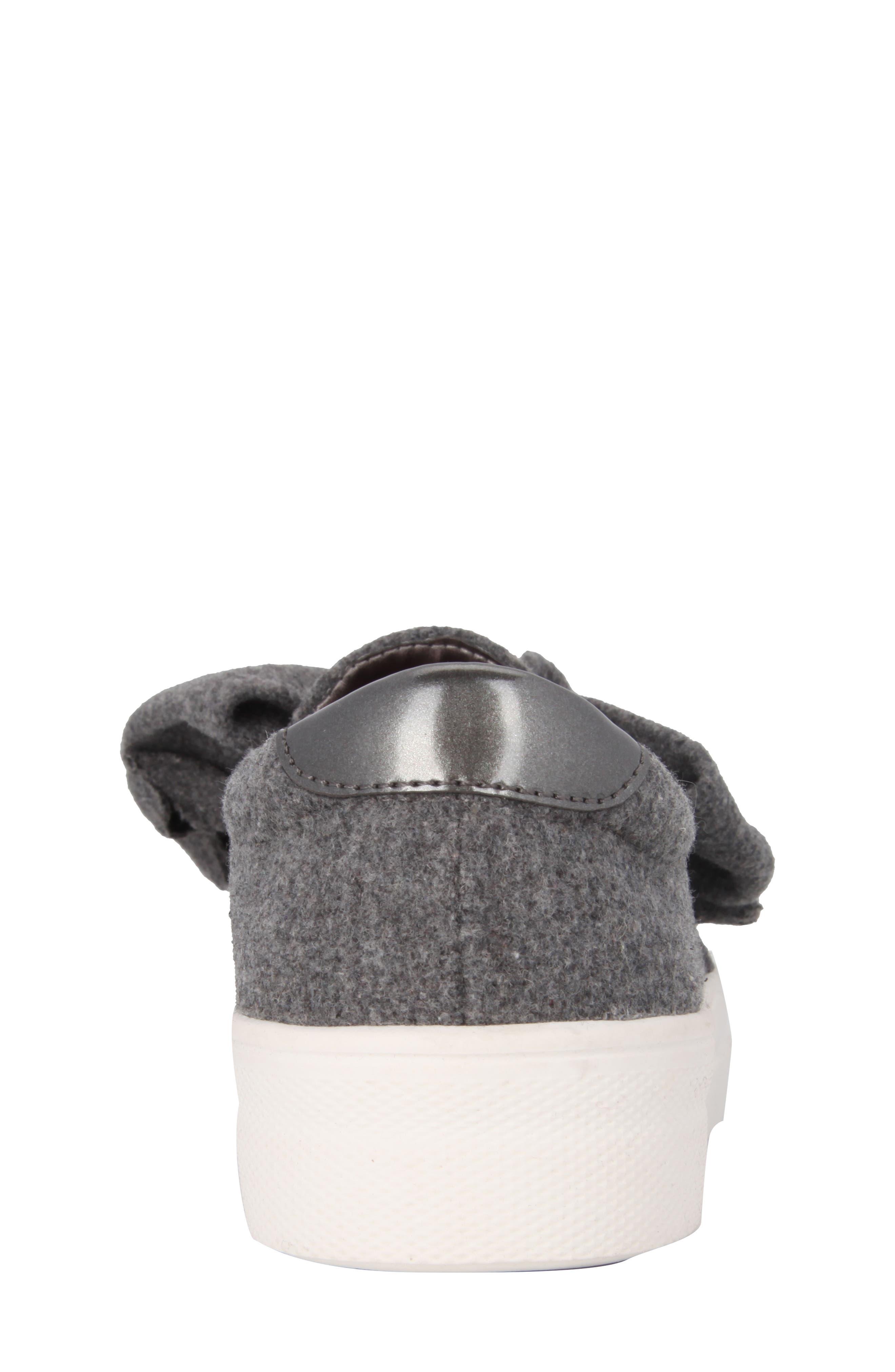 Vaneza Slip-On Bow Sneaker,                             Alternate thumbnail 7, color,                             Grey Flannel