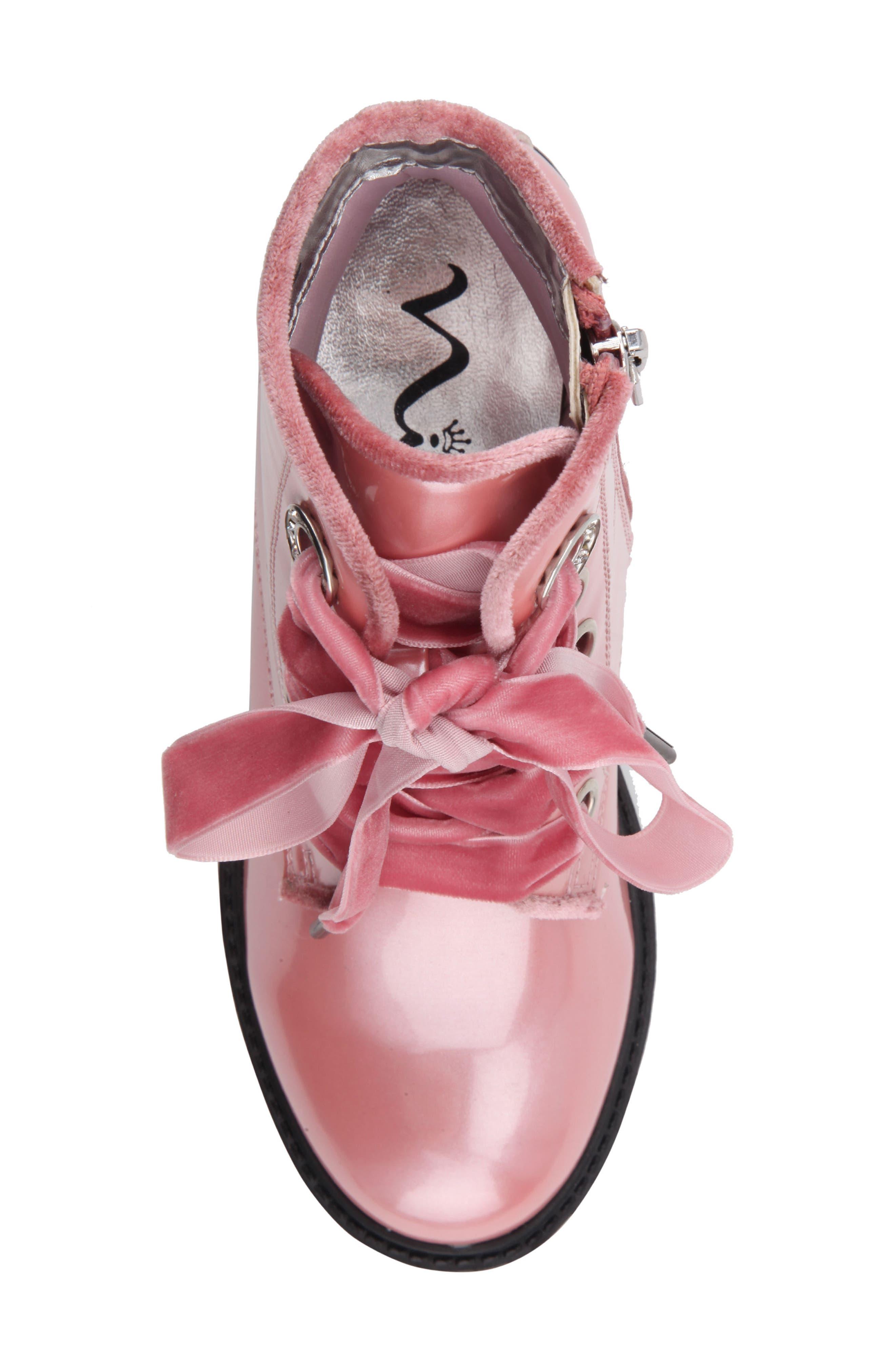Alternate Image 5  - Nina Cherrie Lugged Patent Boot (Toddler, Little Kid & Big Kid)