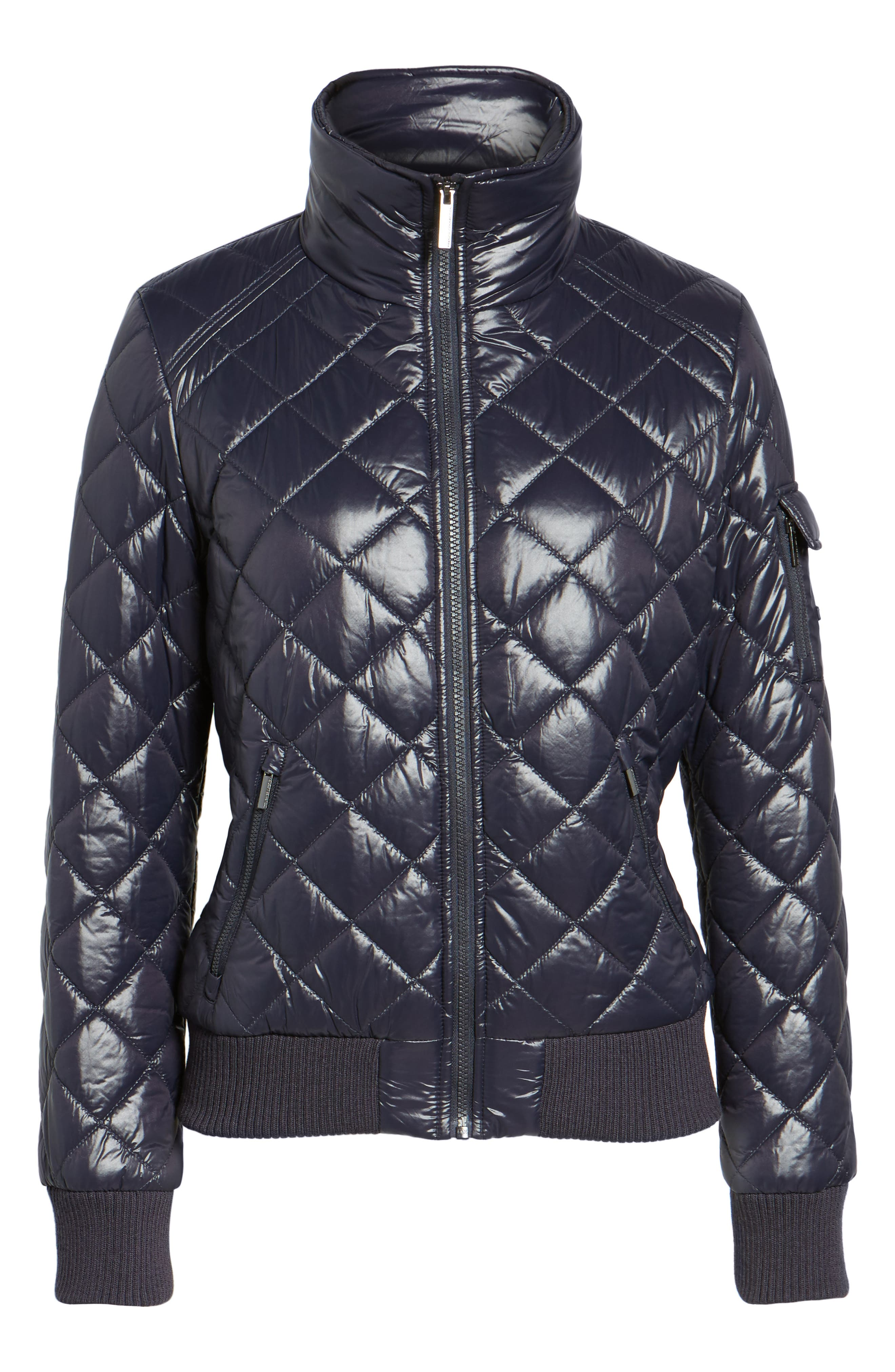 Alternate Image 6  - French Connection Quilted Bomber Jacket