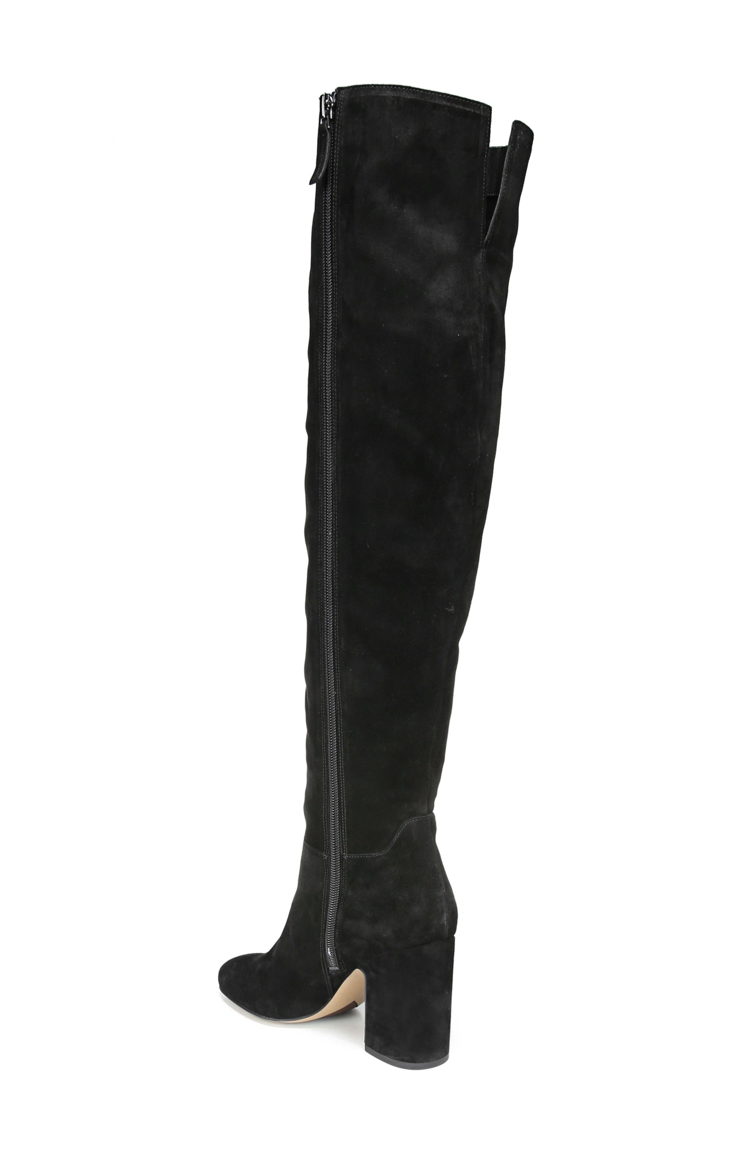 Laurel Over the Knee Boot,                             Alternate thumbnail 2, color,                             Black Suede