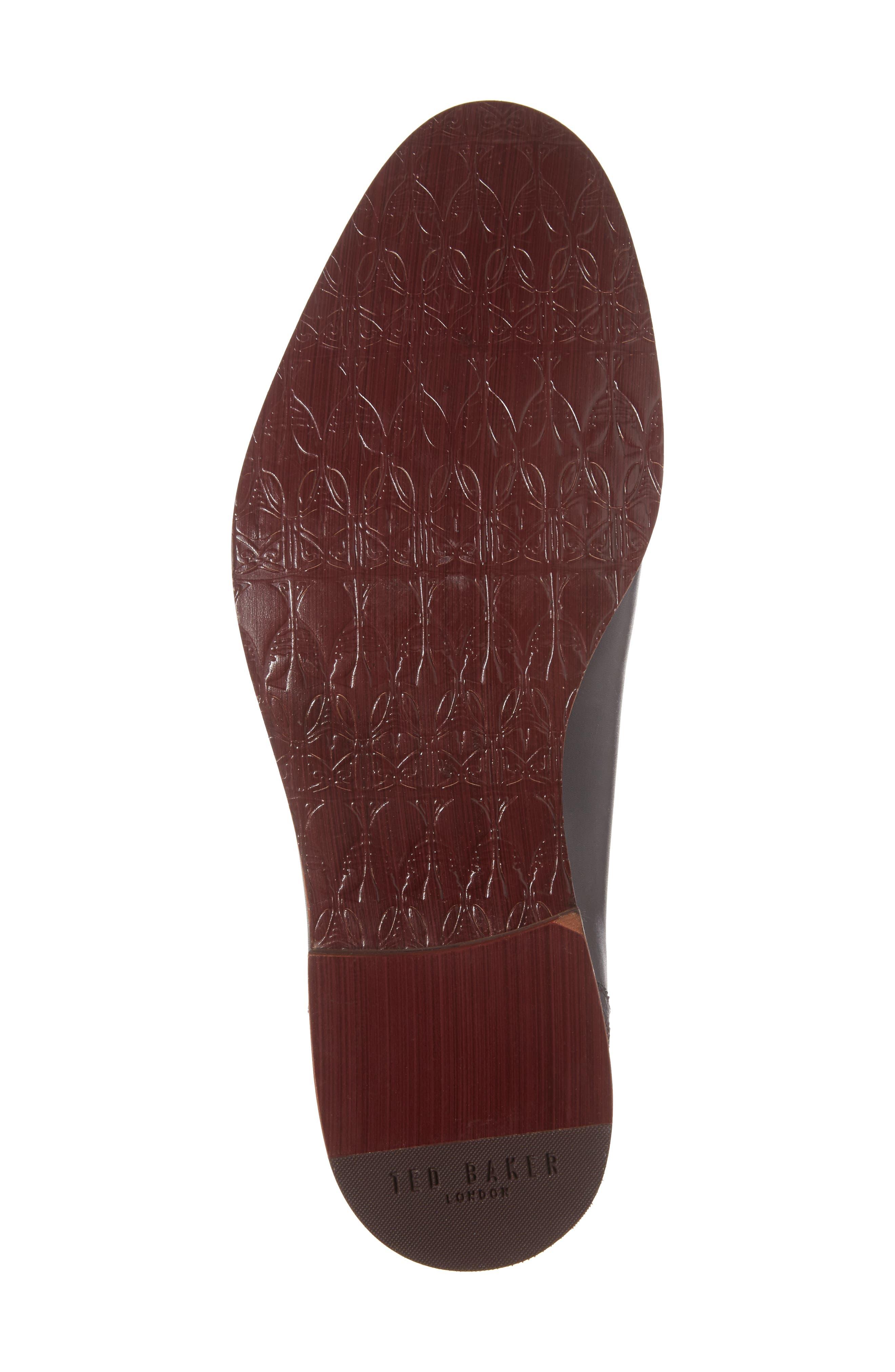 Anice Plain Toe Oxford,                             Alternate thumbnail 5, color,                             Black Leather