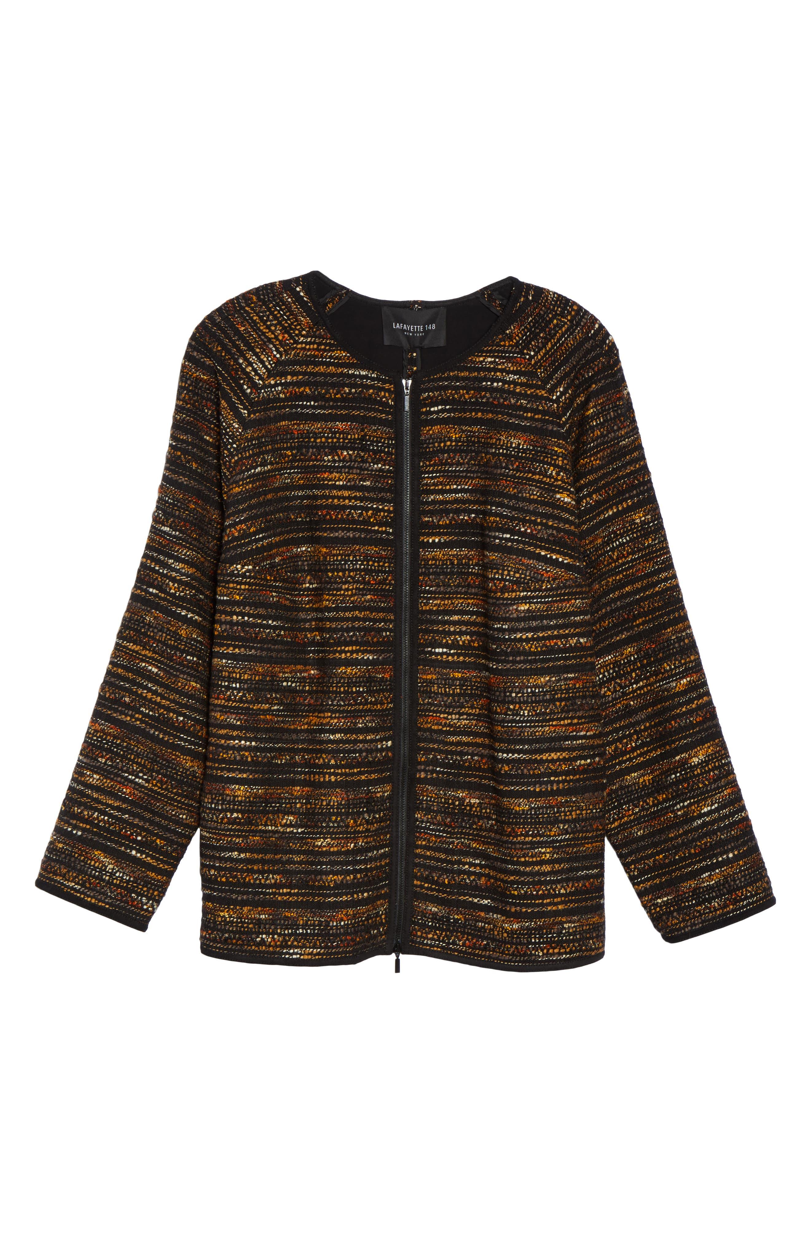 Alternate Image 6  - Lafayette 148 New York Alexa Tweed Jacket (Plus Size)