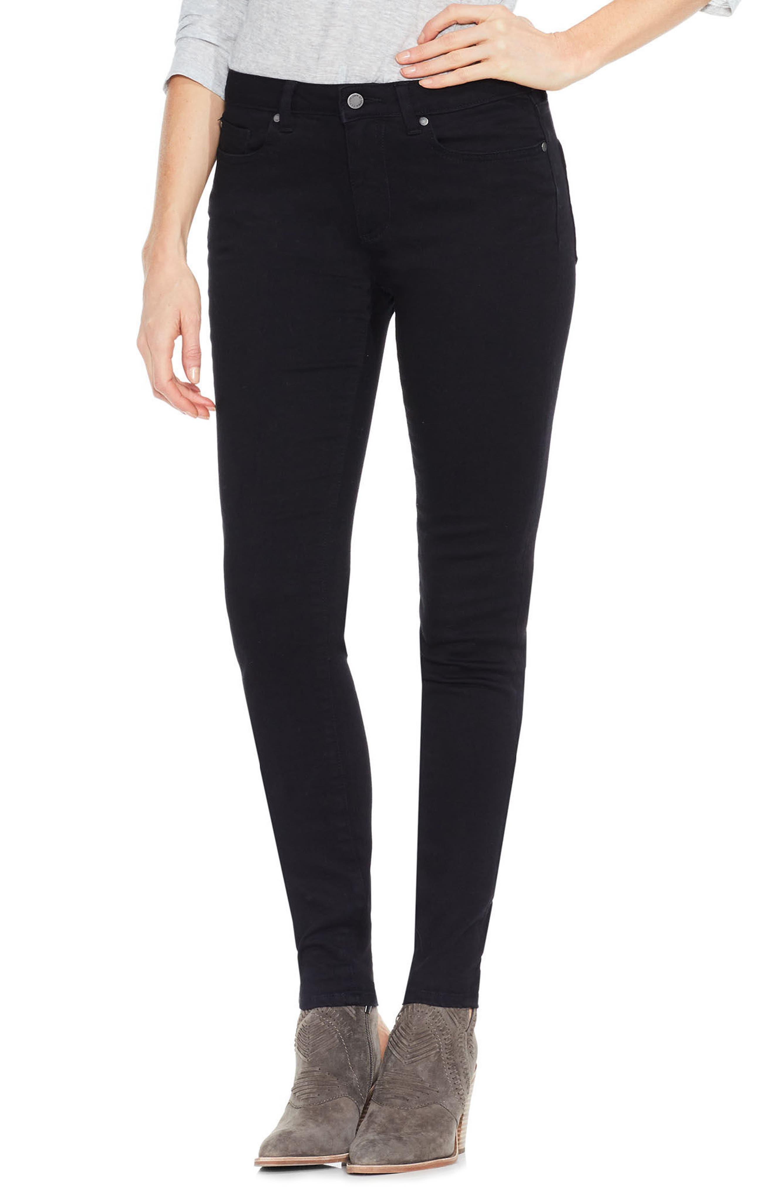 Stretch Skinny Jeans,                         Main,                         color, Jet Black