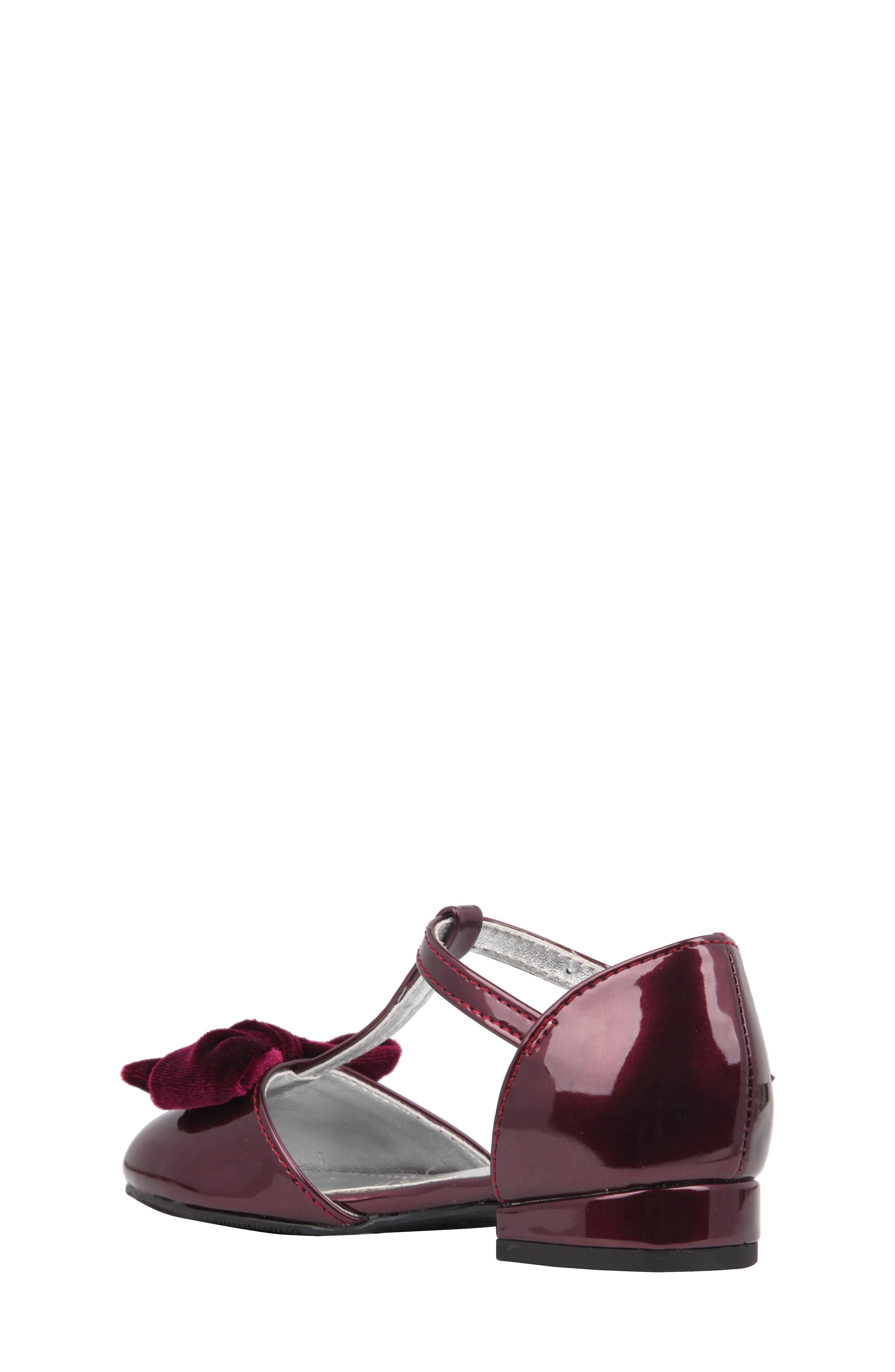 Alternate Image 2  - Nina Almira T-Strap Bow Flat (Walker, Toddler, Little Kid & Big Kid)