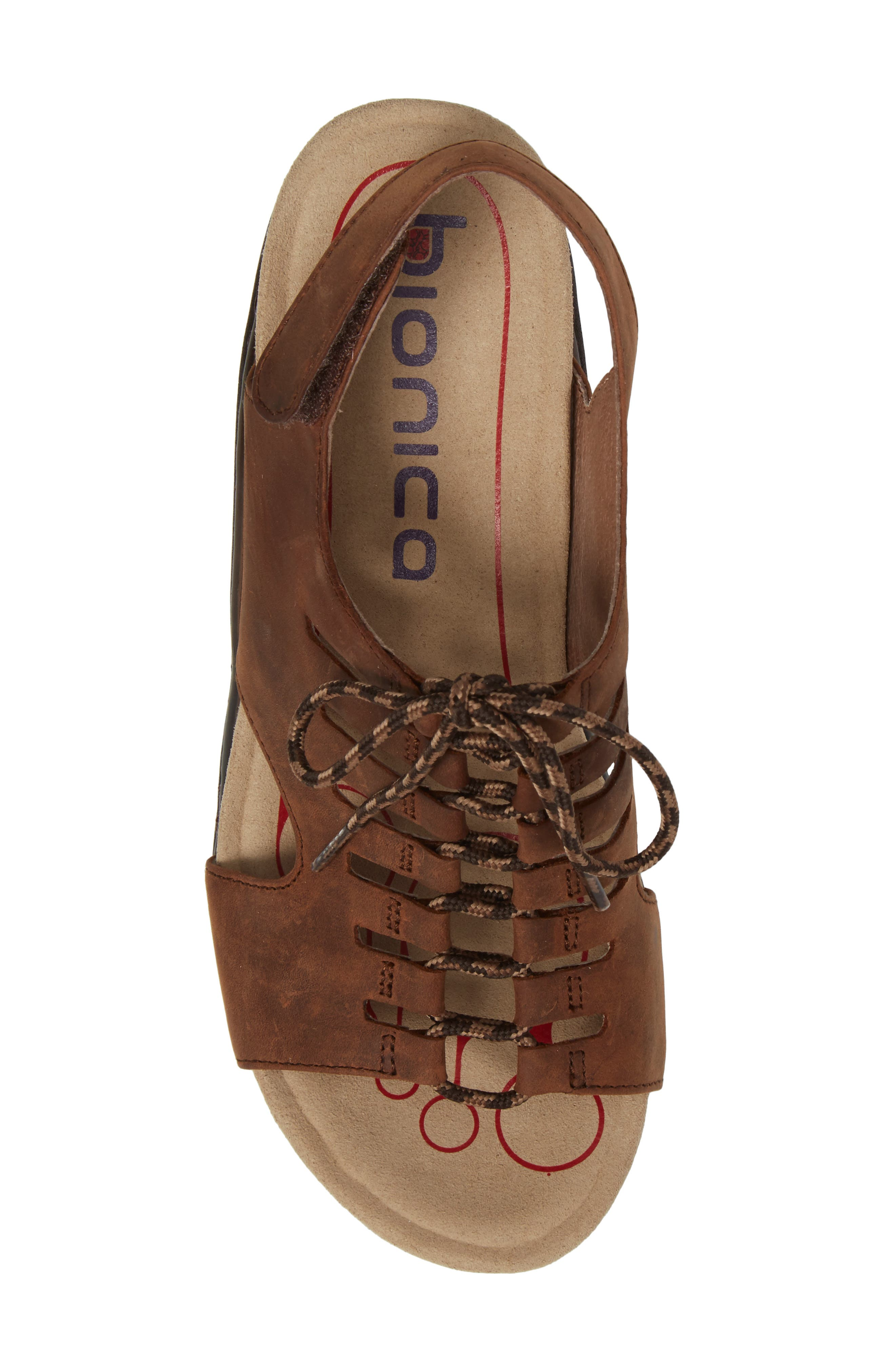 Sirus Wedge Sandal,                             Alternate thumbnail 5, color,                             Aztec Brown Leather