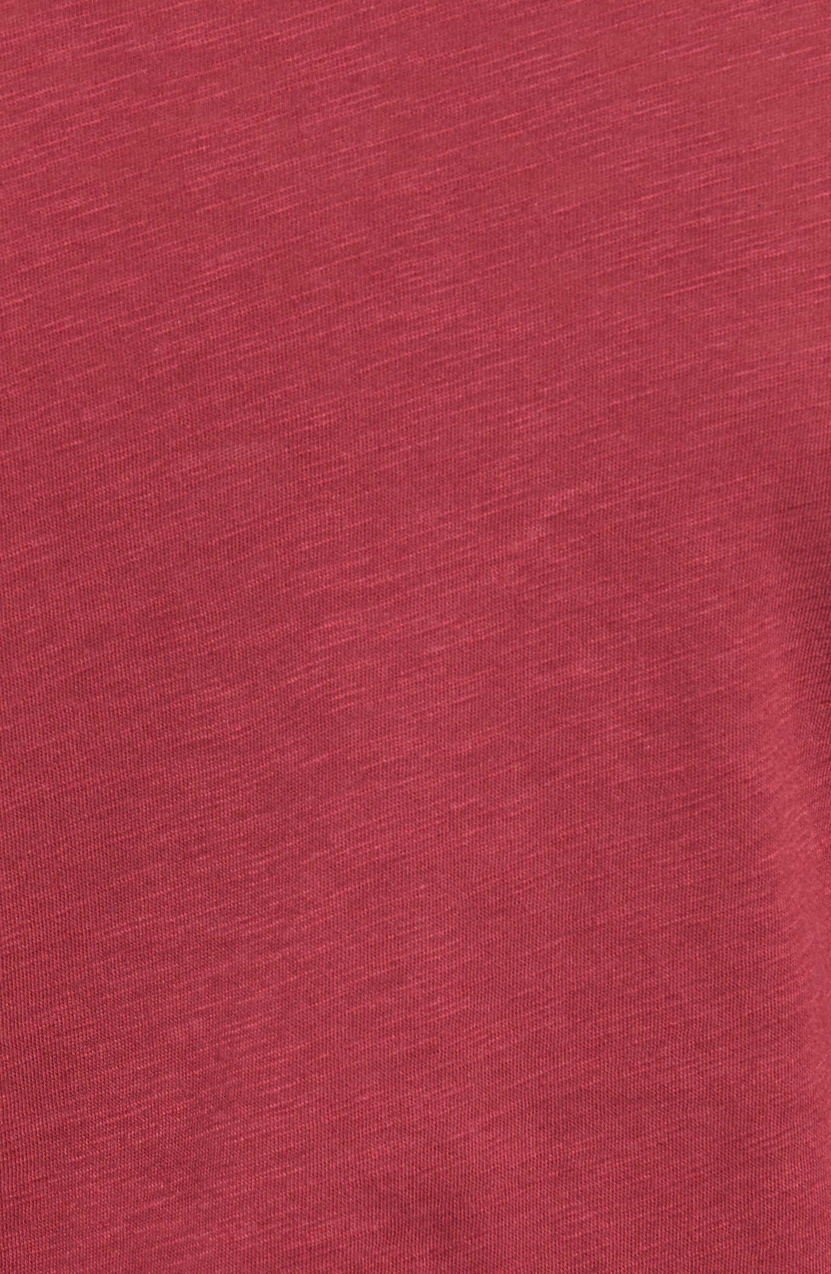 Katrina Cold Shoulder Tee,                             Alternate thumbnail 4, color,                             Rhododendron