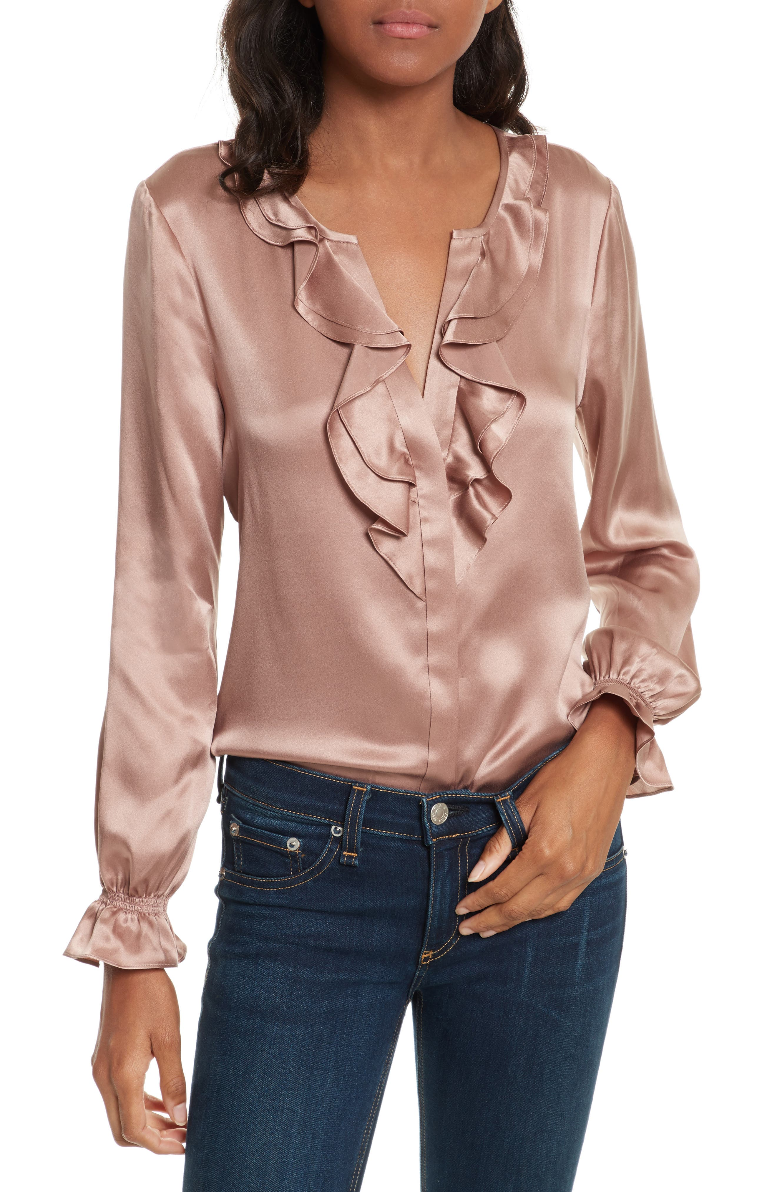 Alternate Image 1 Selected - Joie Jayanne B Silk Blouse