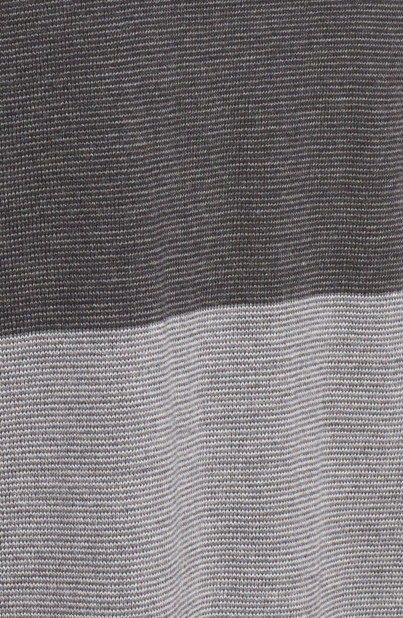 Alternate Image 5  - Eileen Fisher Bateau Neck Stripe Merino Wool Sweater