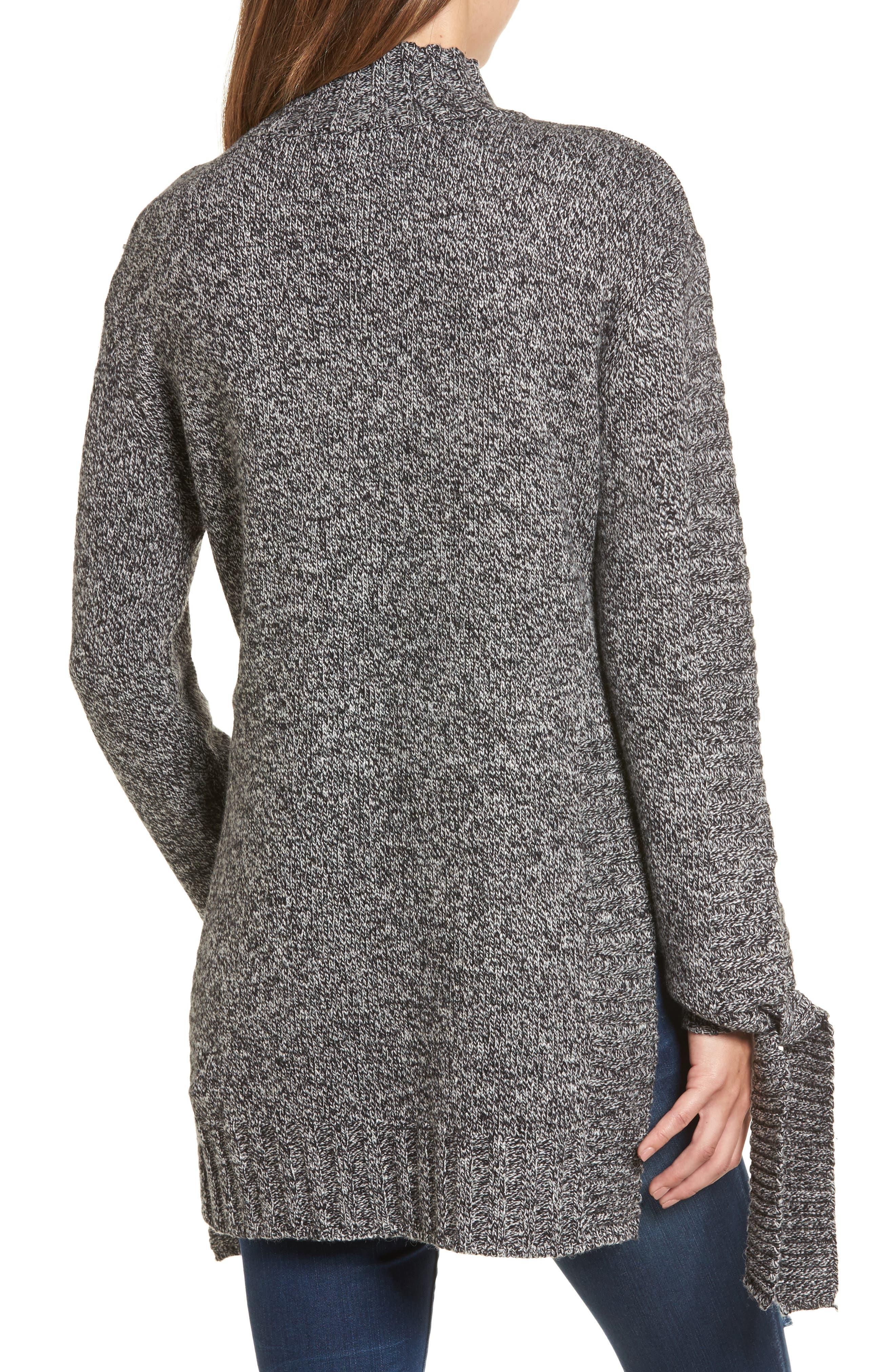 Side Slit Sweater,                             Alternate thumbnail 2, color,                             Charcoal