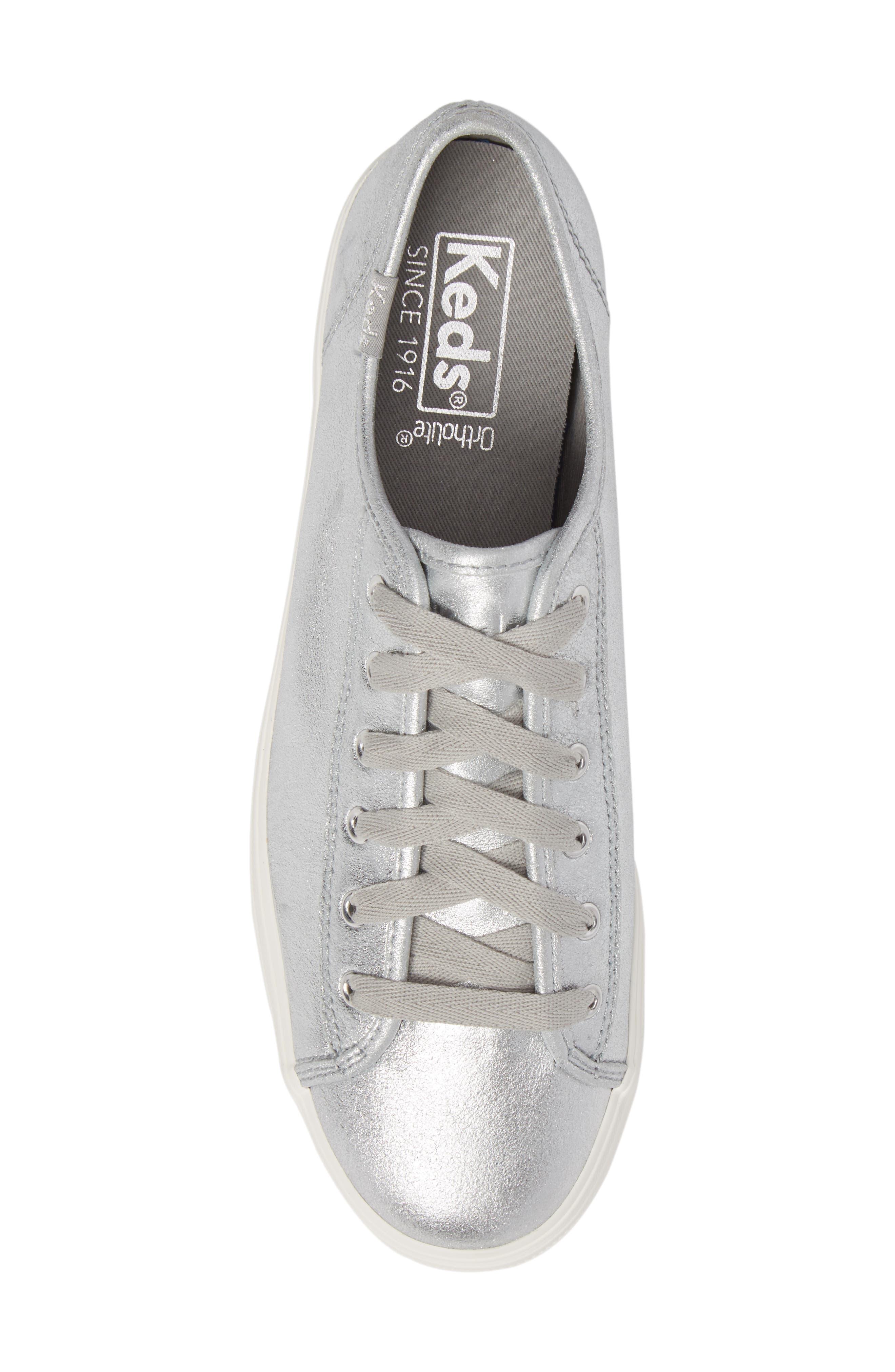 Triple Kick Platform Sneaker,                             Alternate thumbnail 5, color,                             Silver