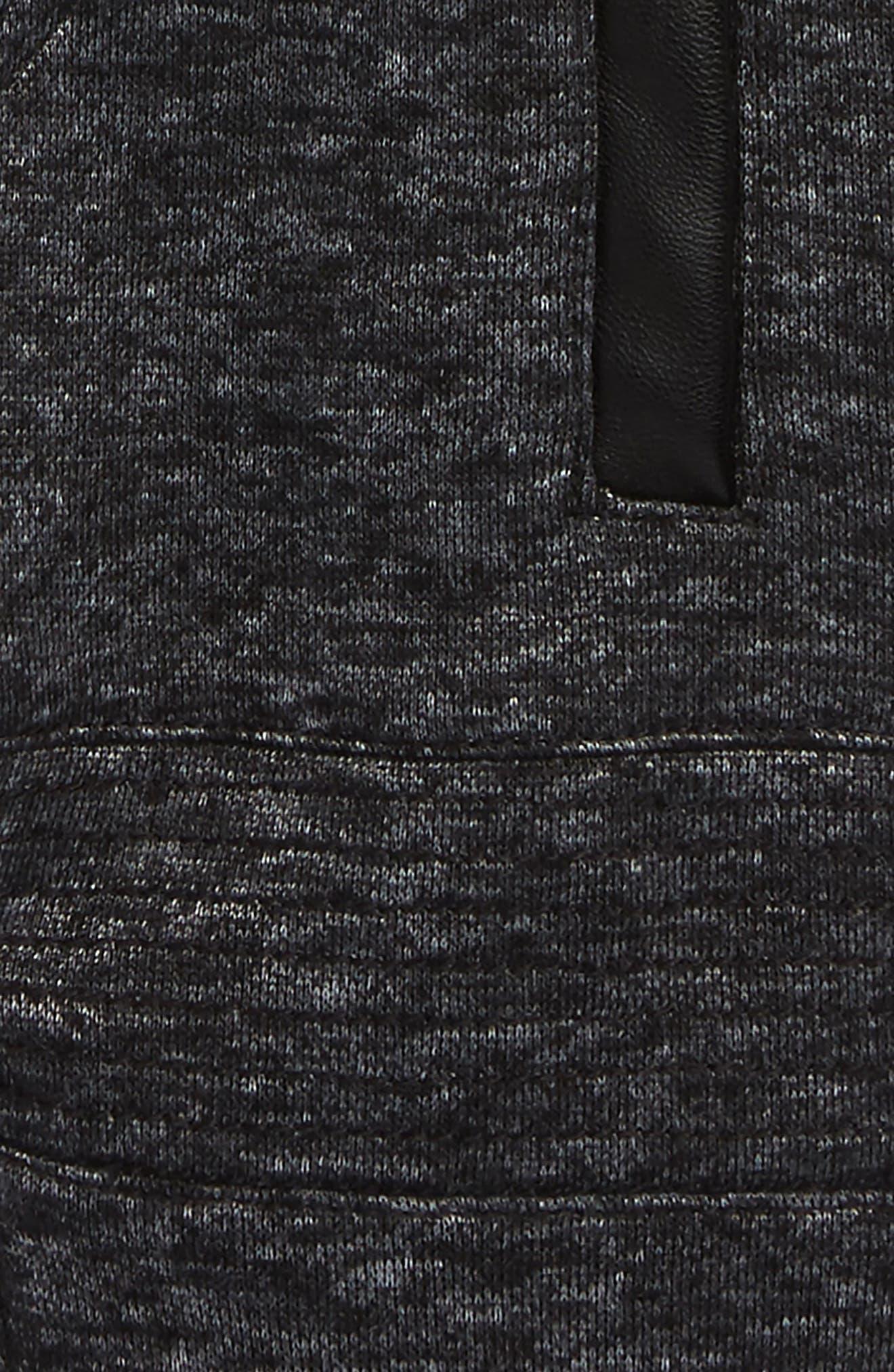 Moto Track Sweatpants,                             Alternate thumbnail 2, color,                             Charcoal Marle