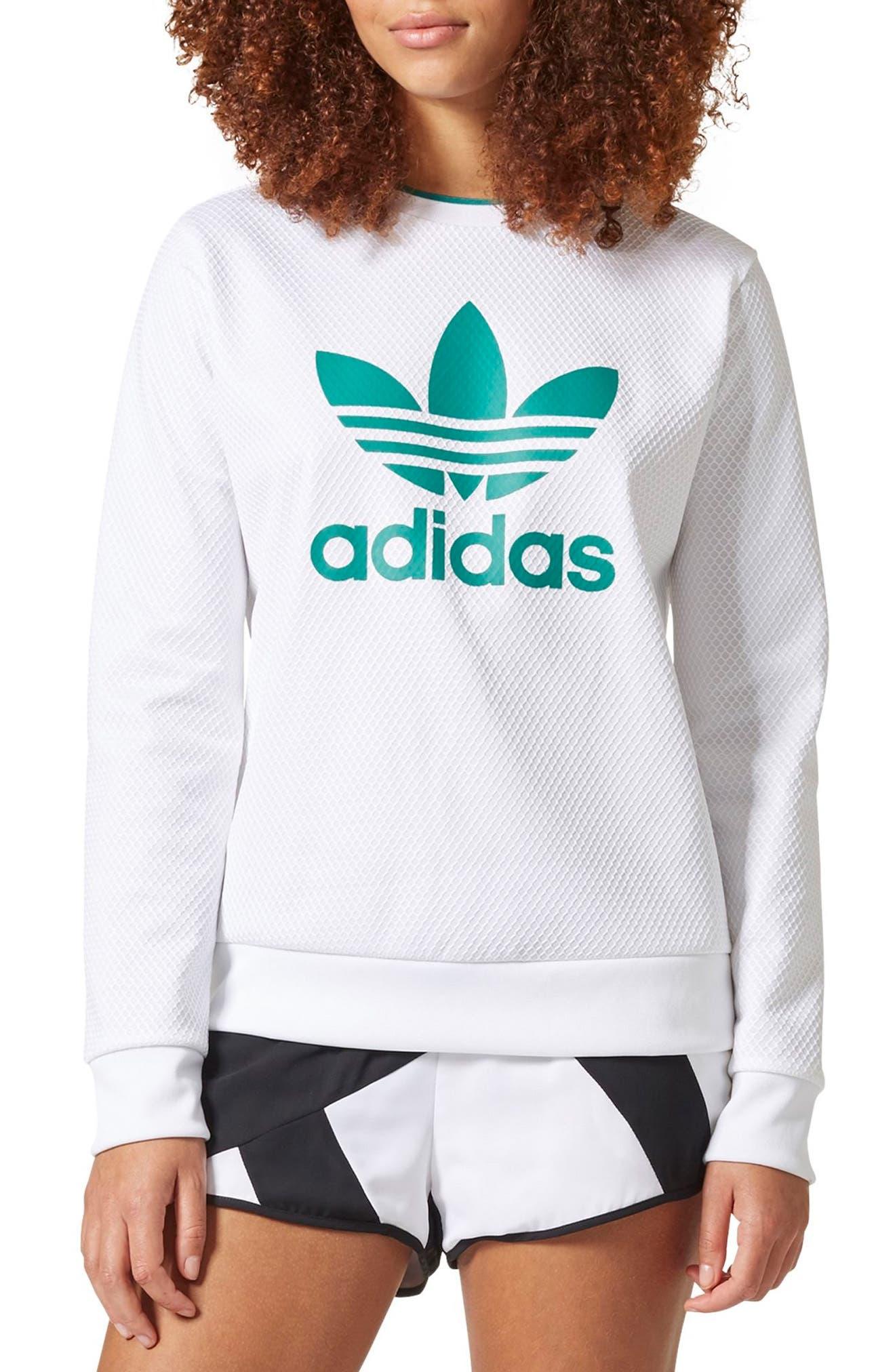 Originals EQT Trefoil Pullover,                         Main,                         color, White