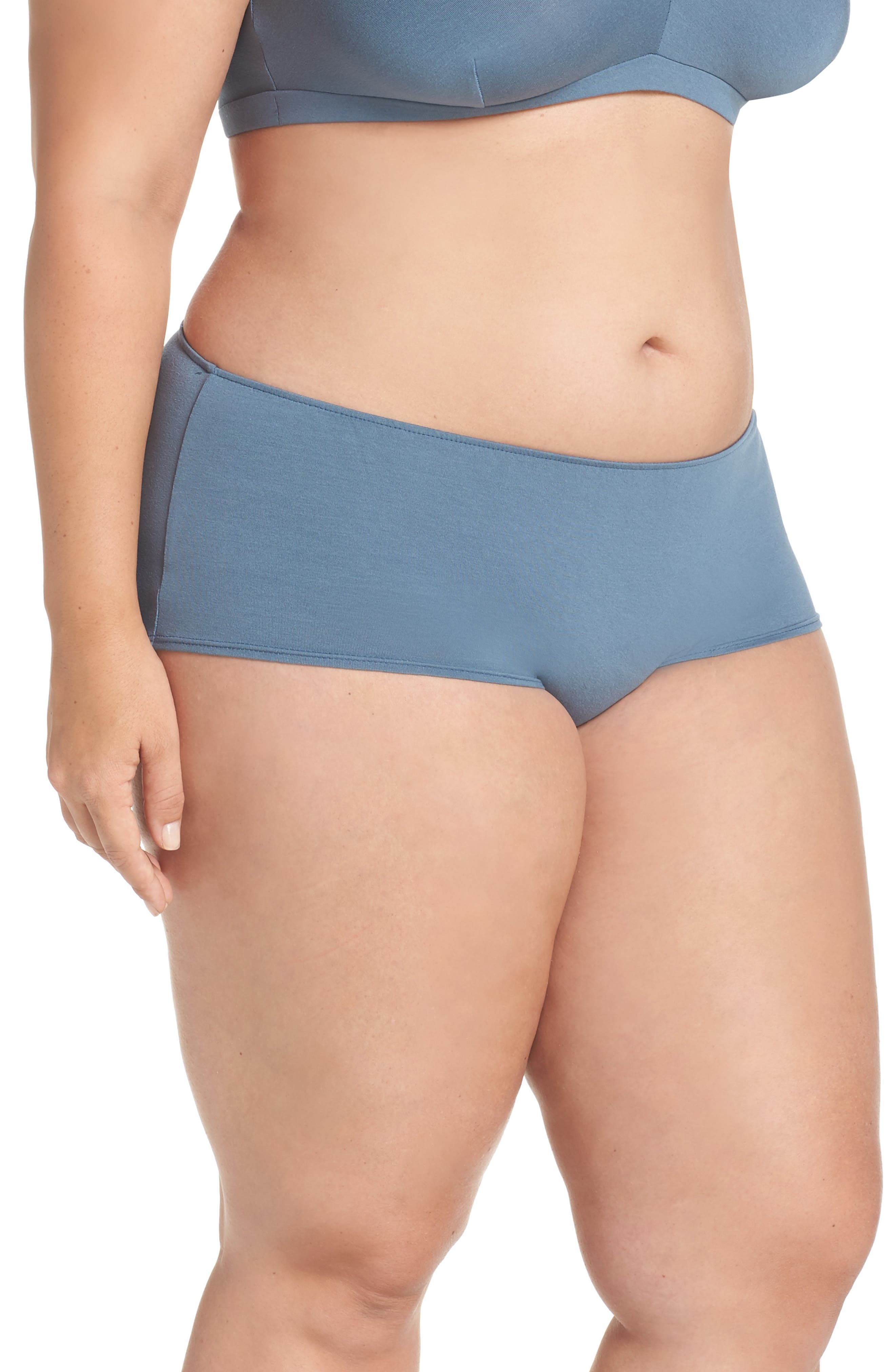 So Fine Ruched Hipster Briefs,                             Alternate thumbnail 3, color,                             Petrol