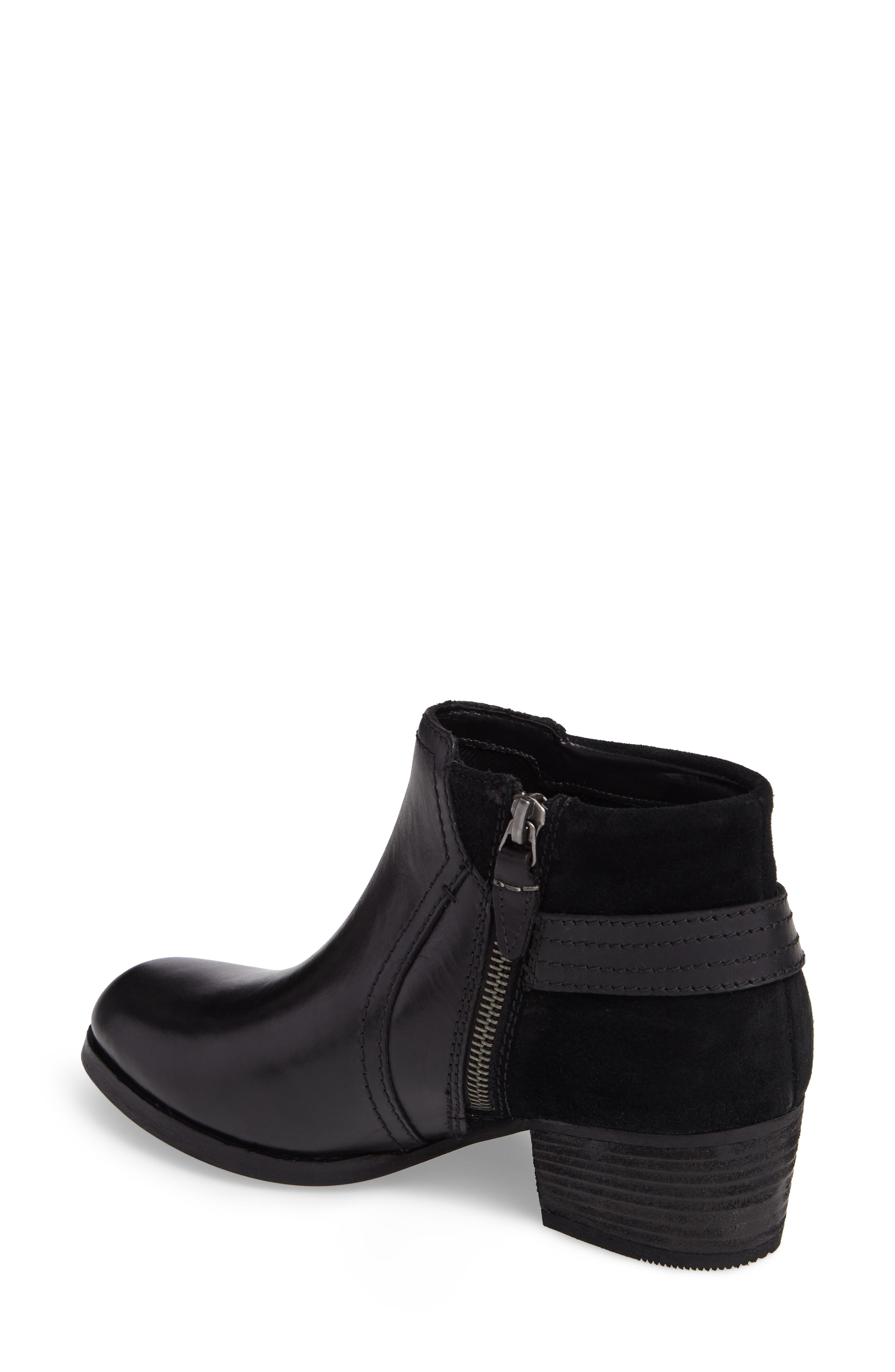 Maypearl Lilac Bootie,                             Alternate thumbnail 2, color,                             Black Leather