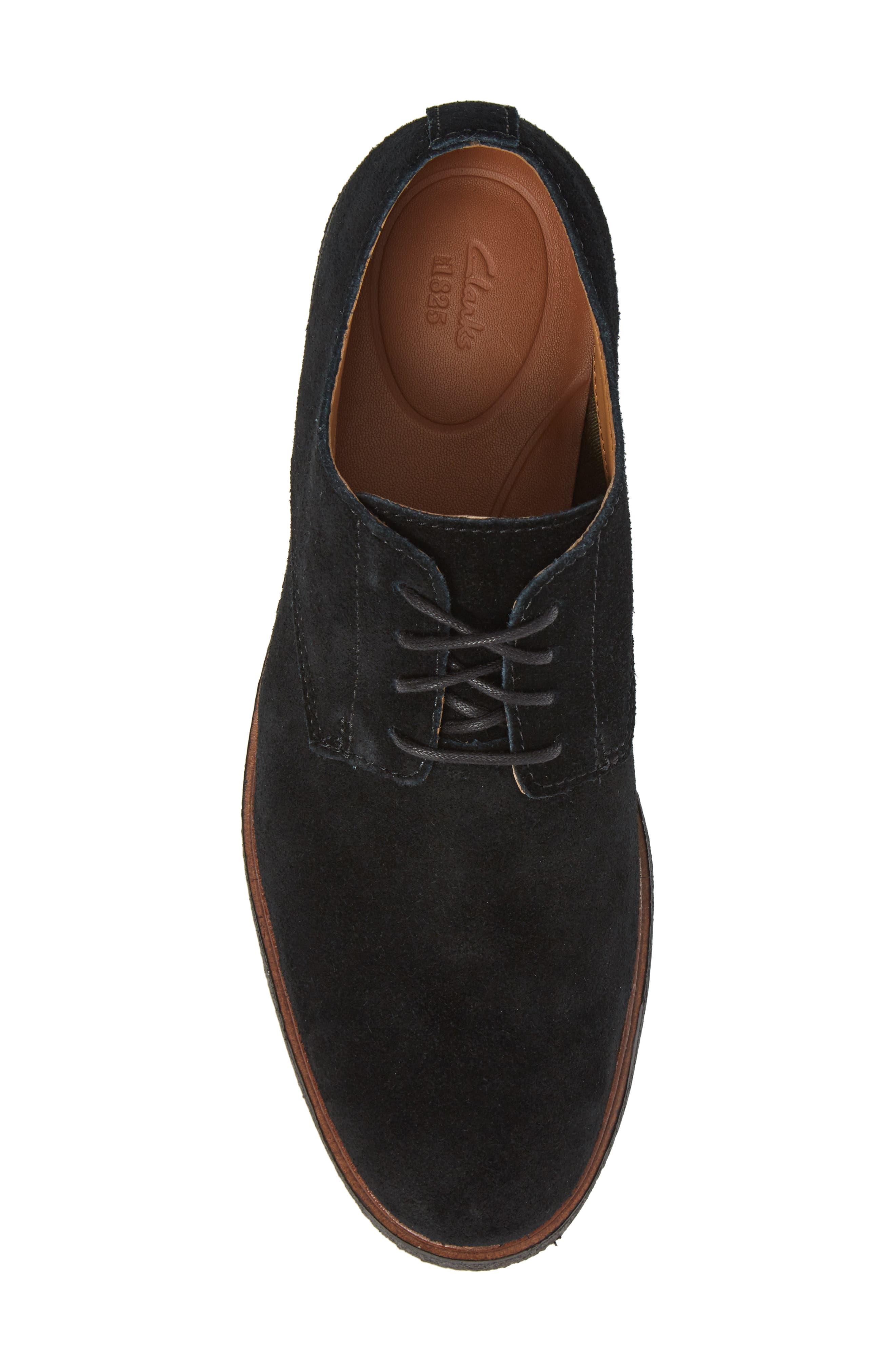 Clarks Clarkdale Moon Buck Shoe,                             Alternate thumbnail 5, color,                             Black Suede