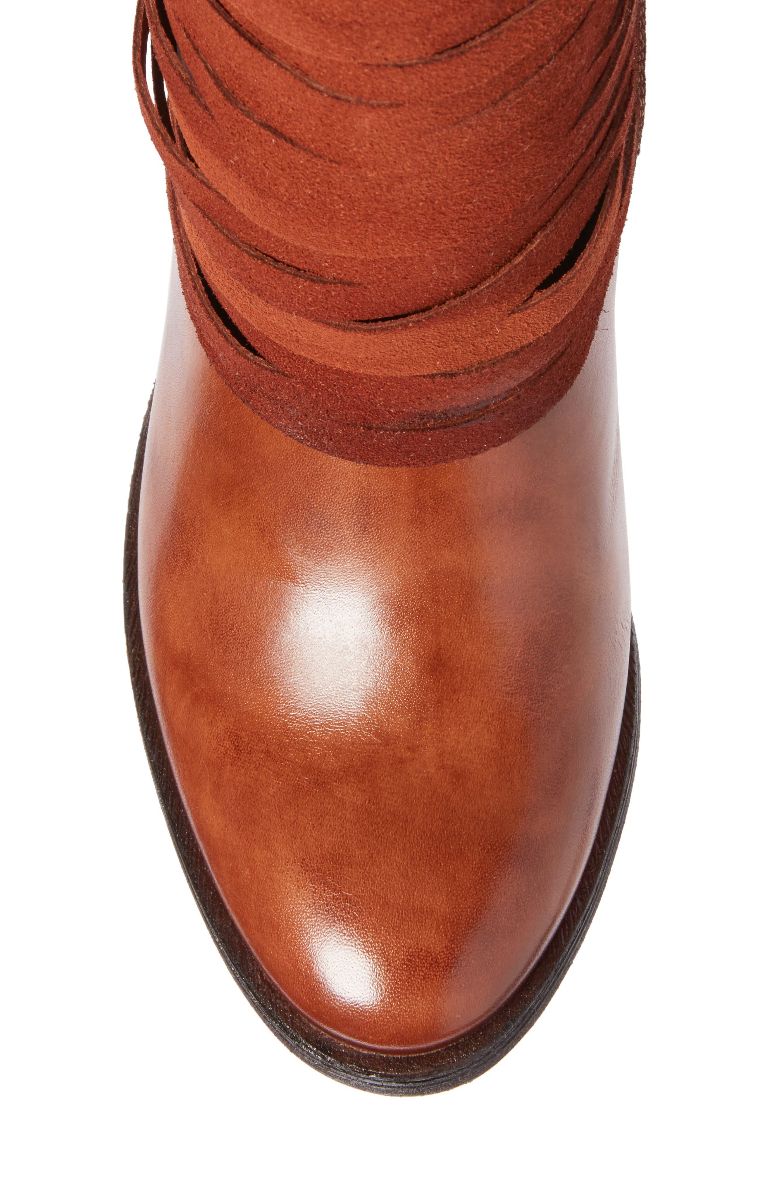 Alicante Bootie,                             Alternate thumbnail 5, color,                             Cuero Leather